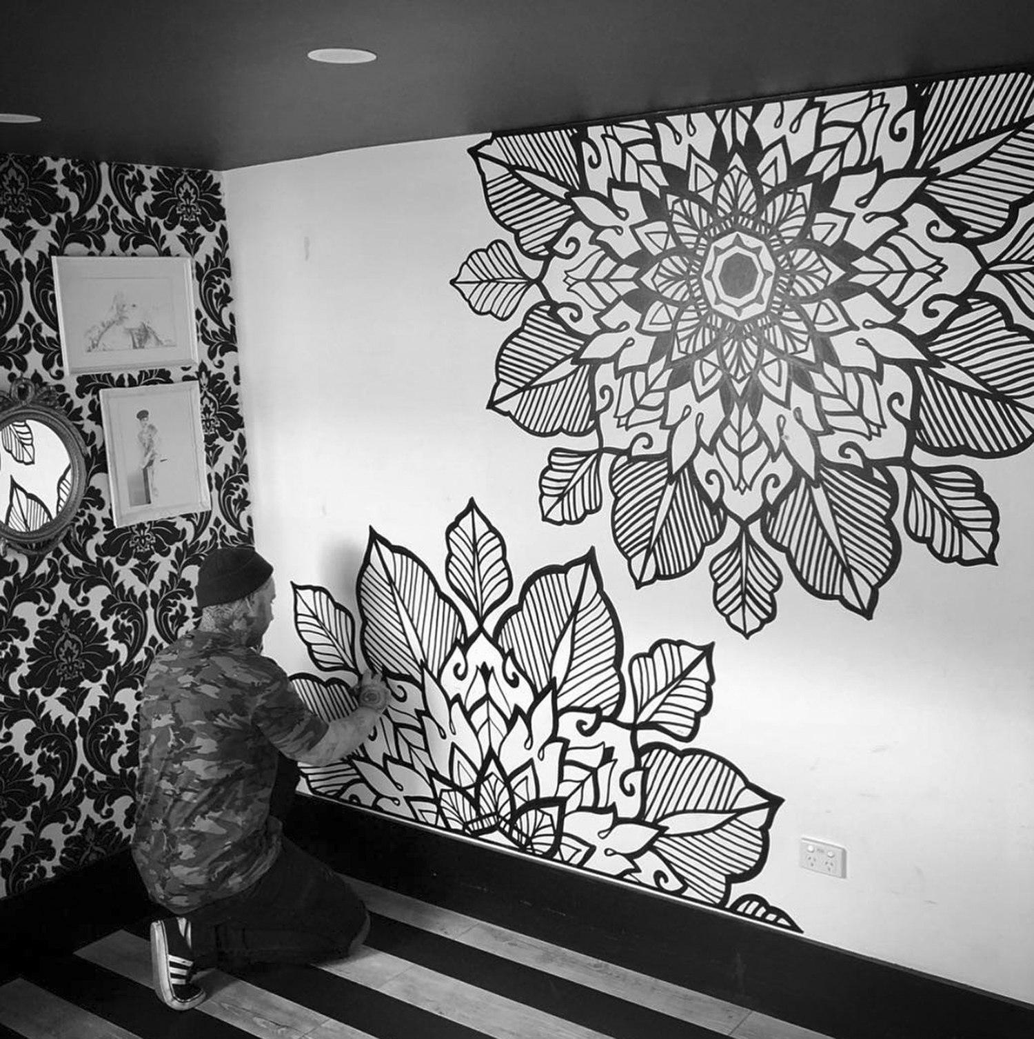 mural by tattoo artist keegan sweeney