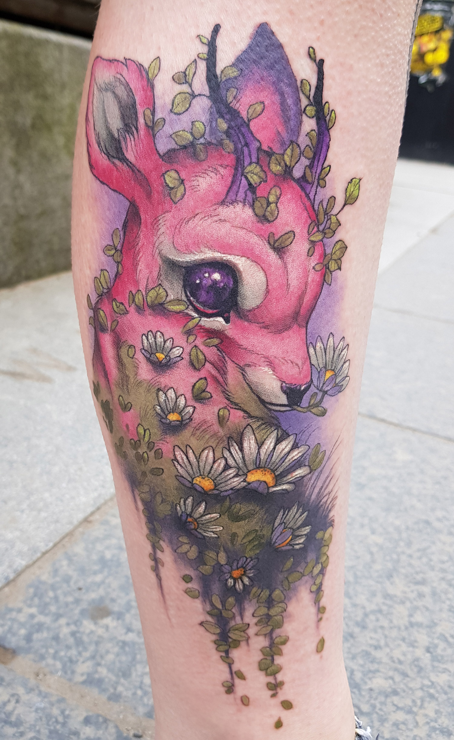 Tom Strom - Deer tattoo