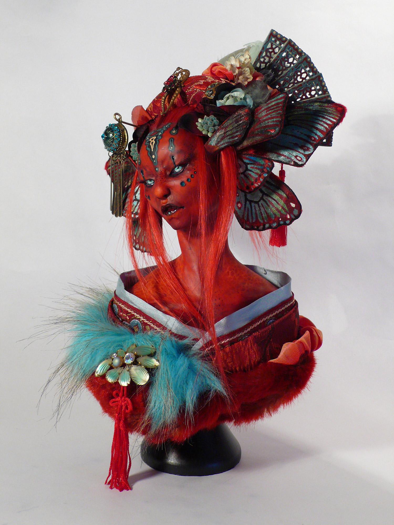 Virginie Ropars - Bombyx Mori doll sculpture