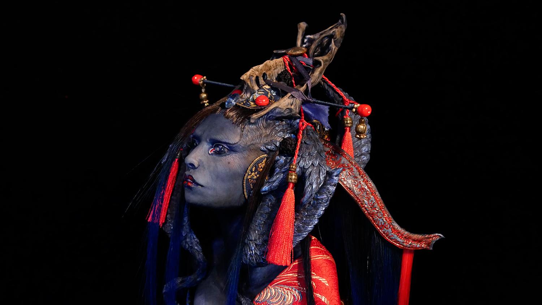 Virginie Ropars - BlueBird doll sculpture