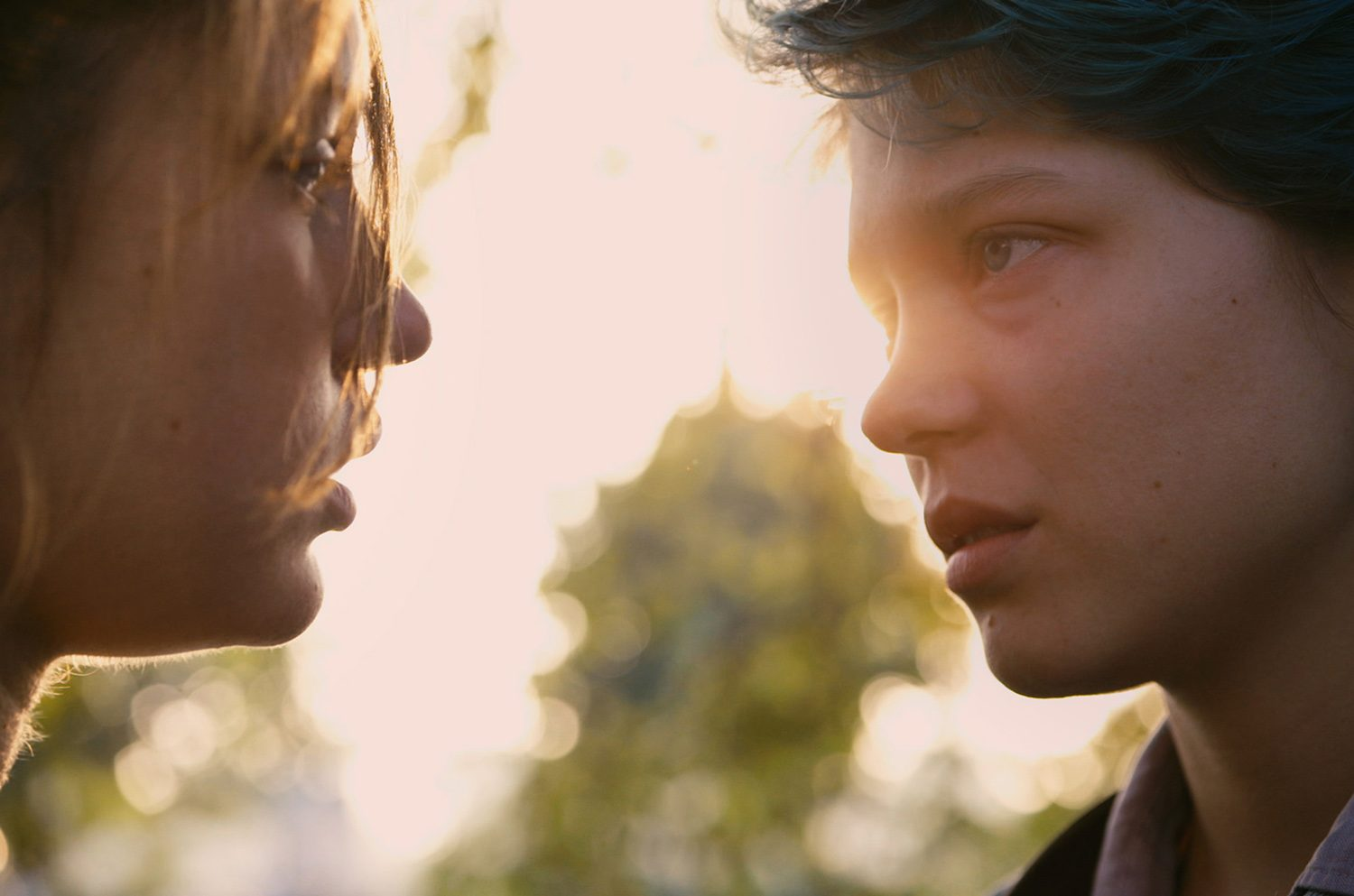 actresses, lovers in Blue is the Warmest Colour