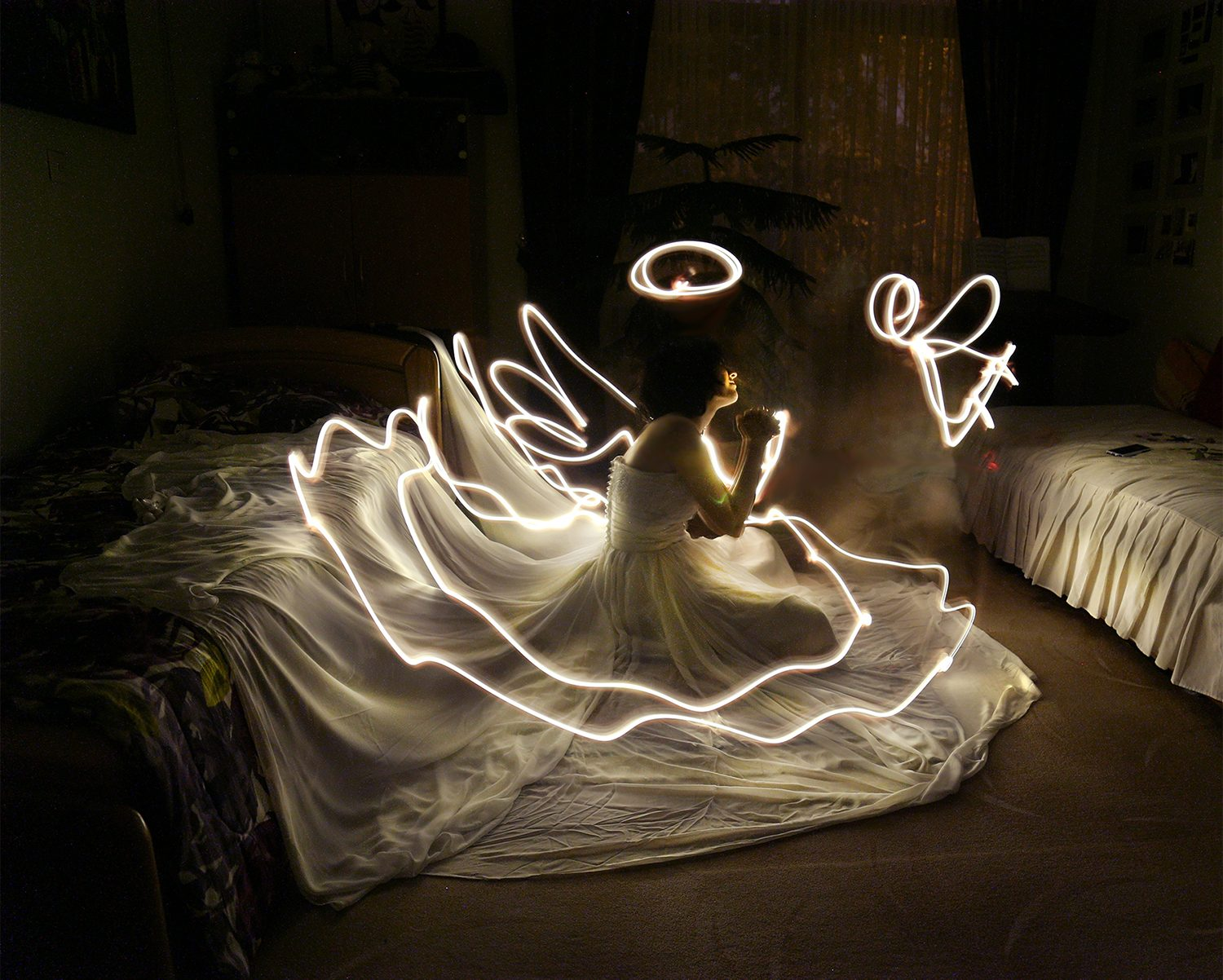 Hidden Stories of The Room Light Painting by Arina Taghvaei and Armaghan Taghvaei