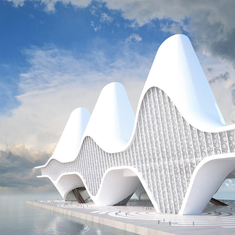 Sea Mosque in Abu Dhabi Prayer Hall by Nikolaos Karintzaidis