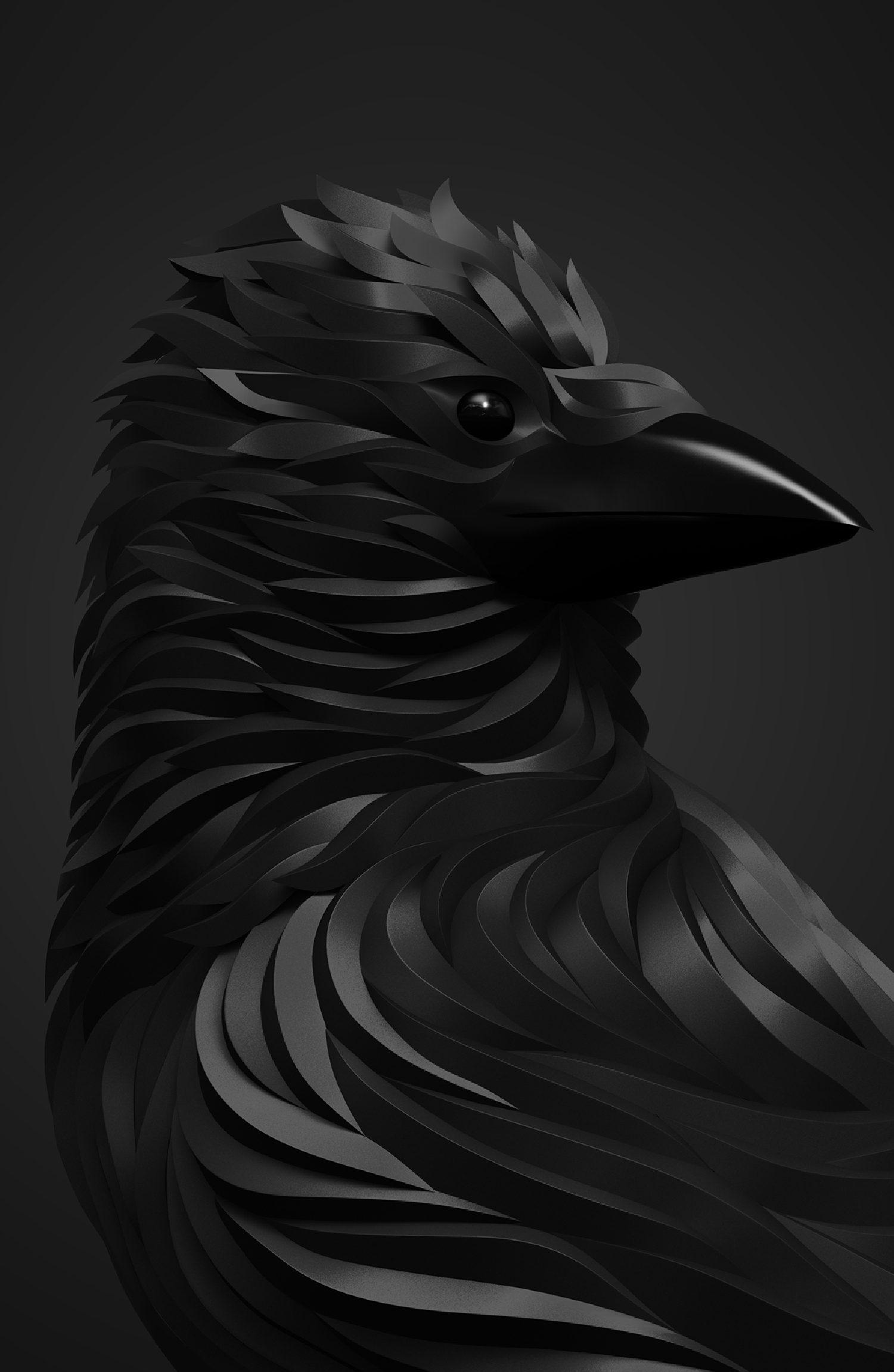 crow 3d art