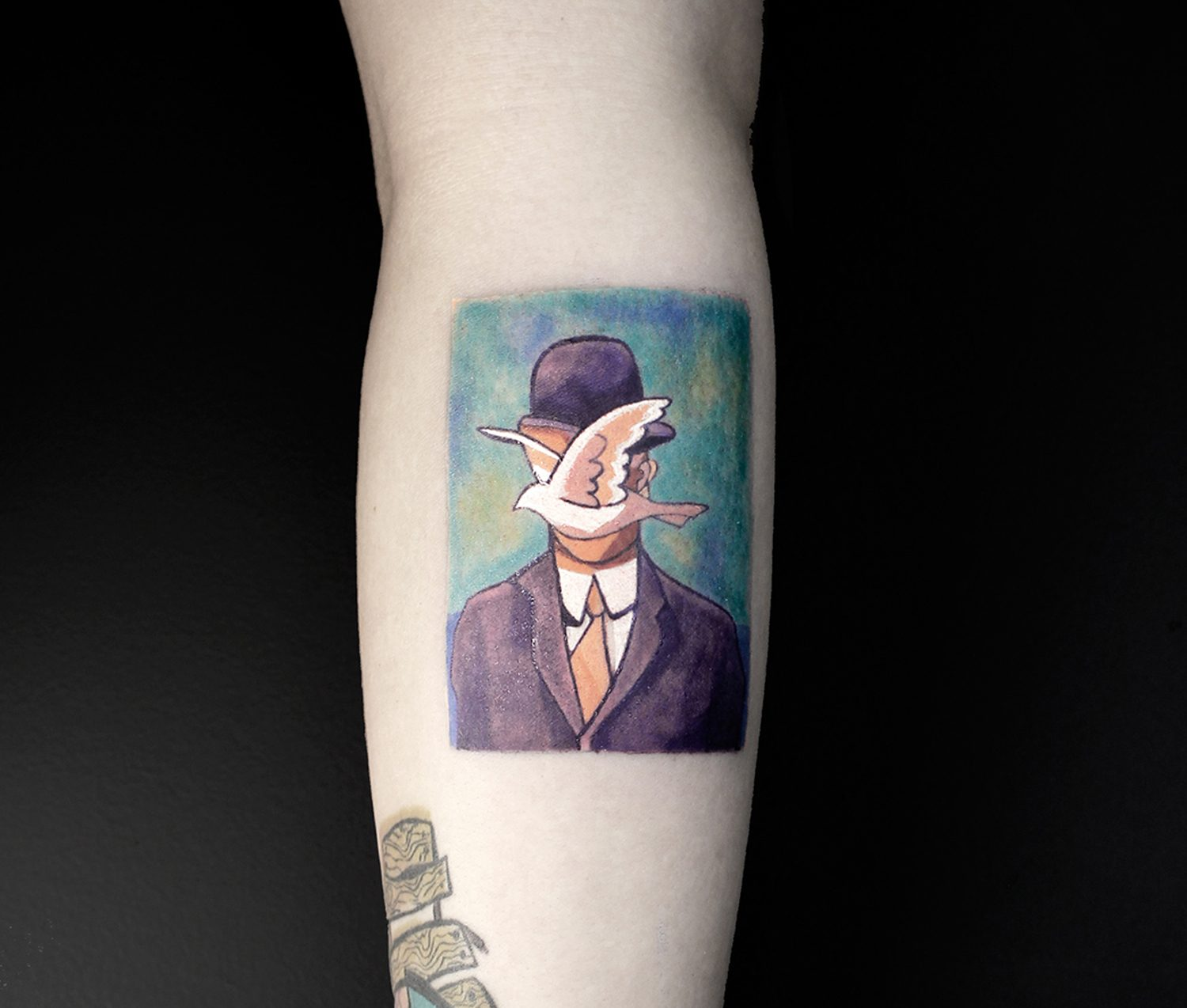 son of man, magritte remake tattoo