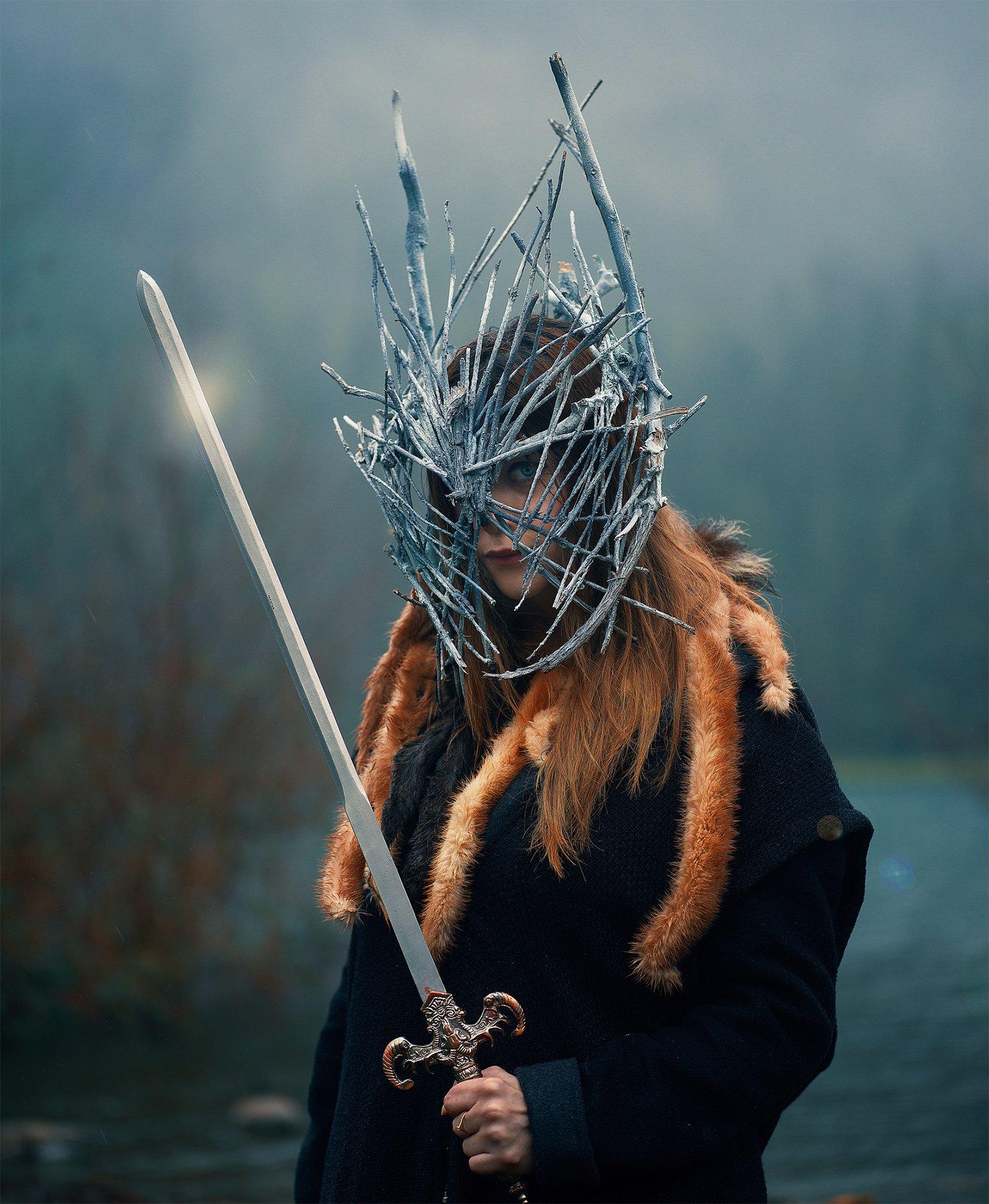 sword, knight, fantasy photography