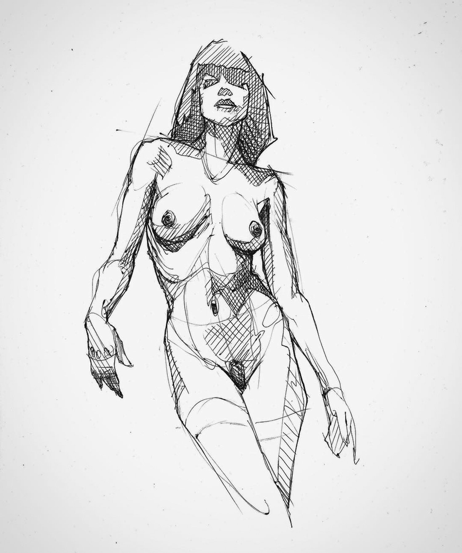 nude study sketch