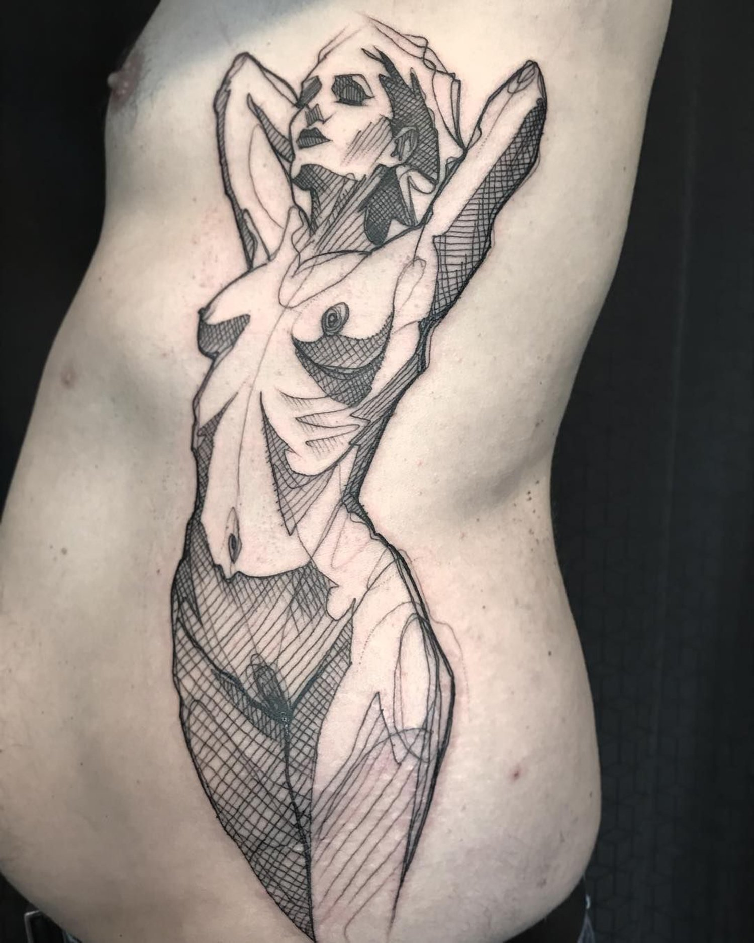 nude figure study tattoo