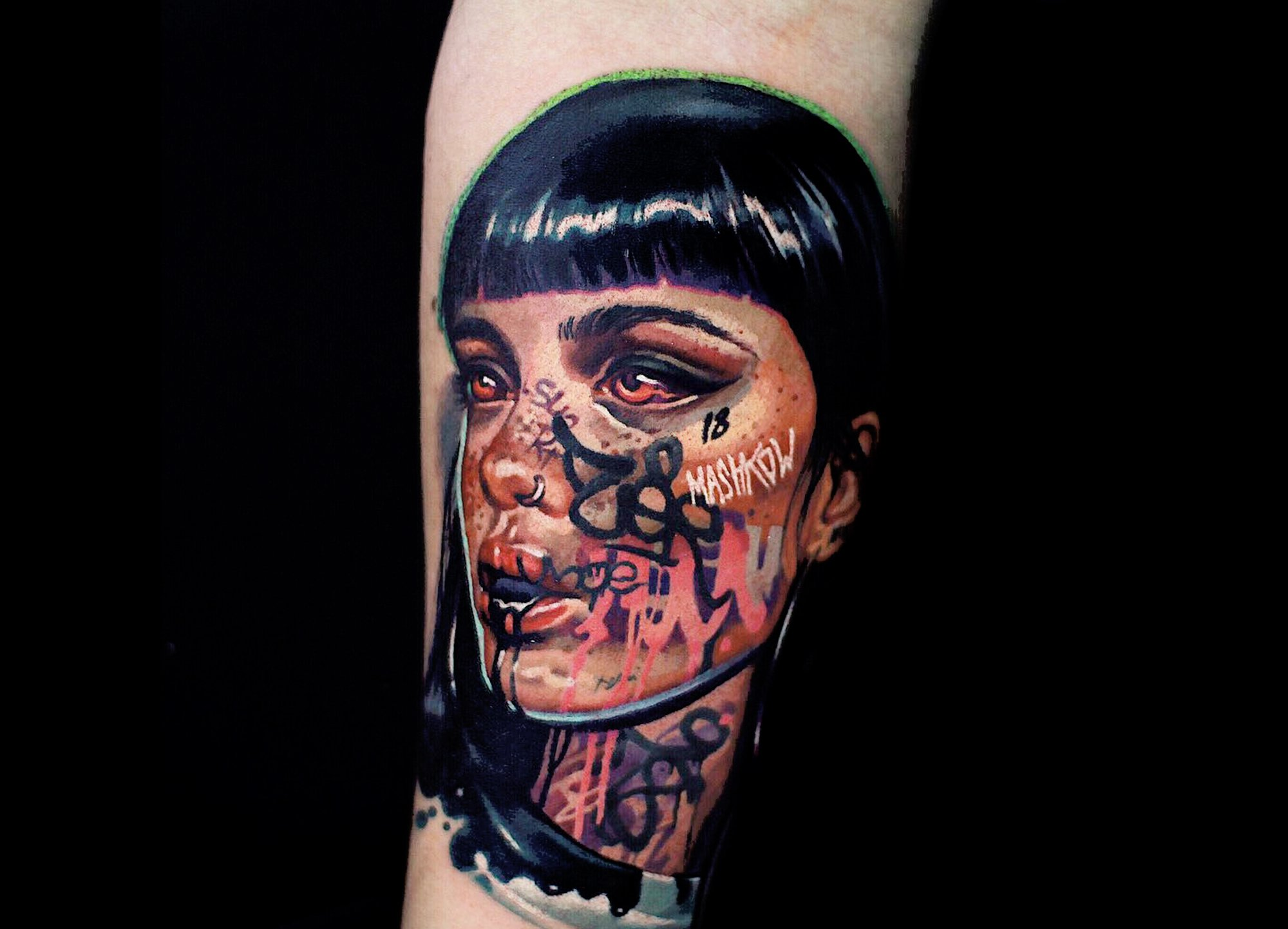 graffiti girl , portrait tattoo