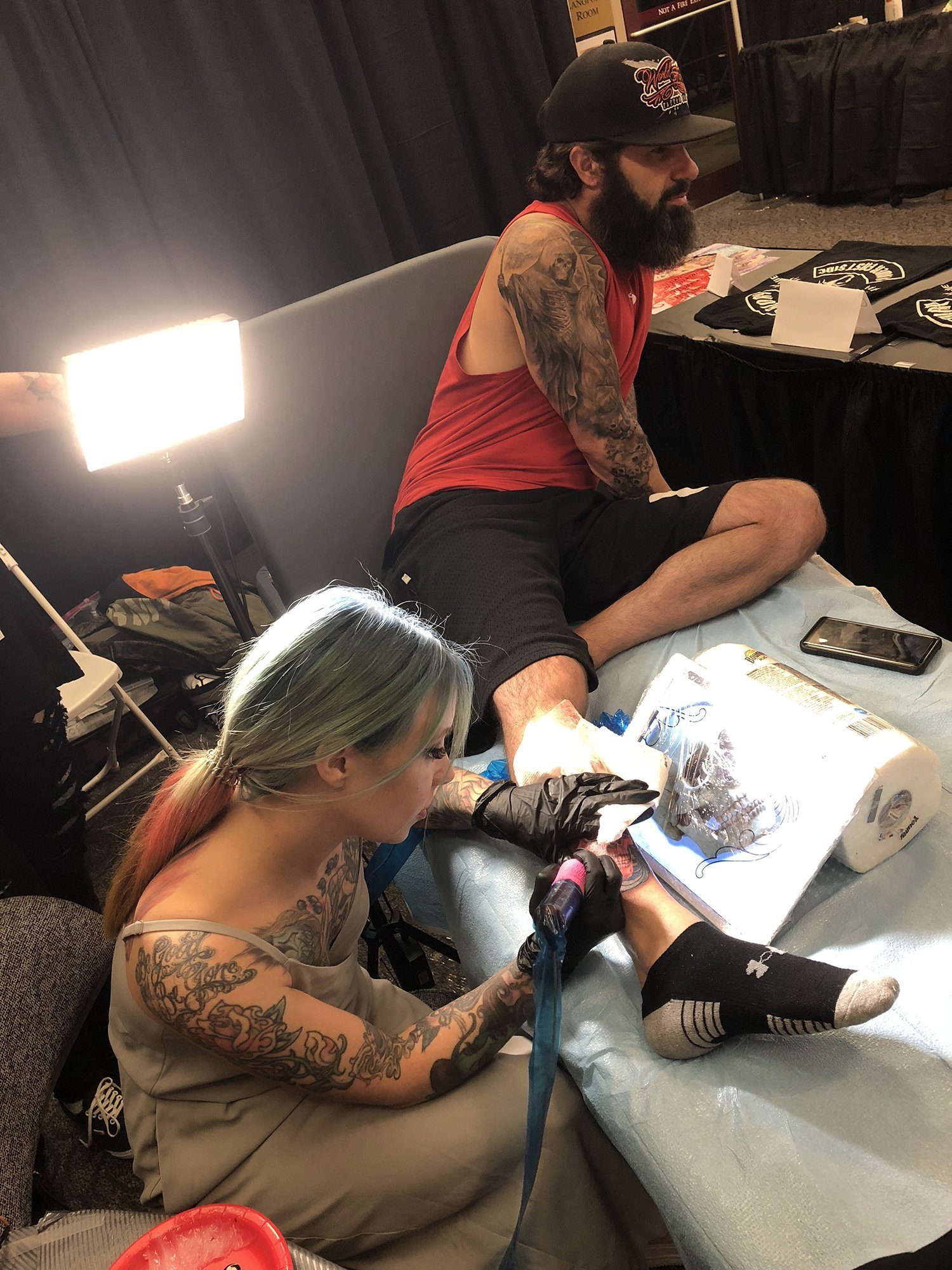 megan massacre at van isle tattoo expo, tattoo convention, canada