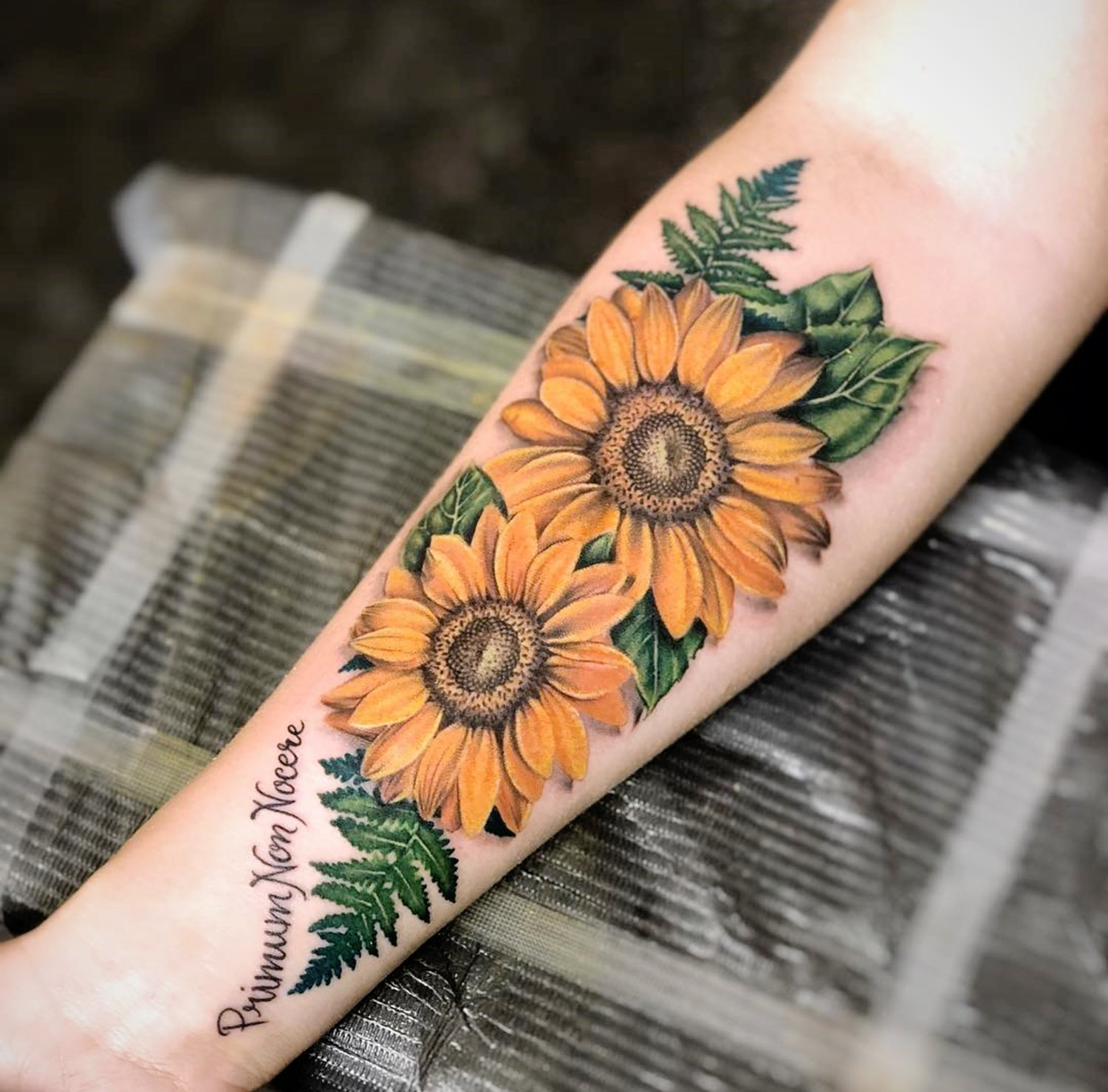 flowers tattoo done at van isle tattoo expo