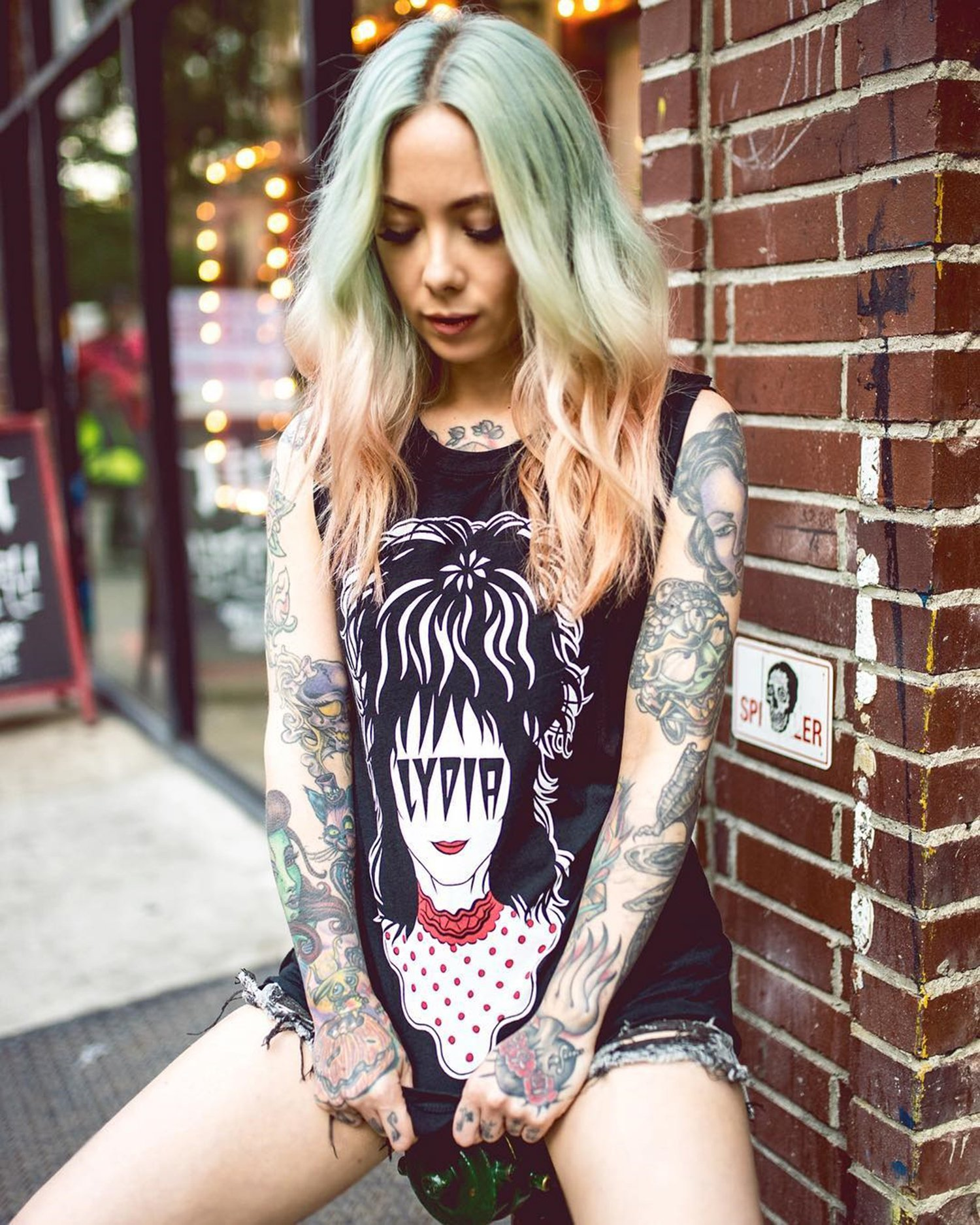 megan massacre modelling a lydia top