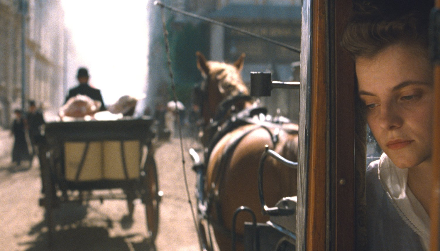 carriage and horses, Sunset movie