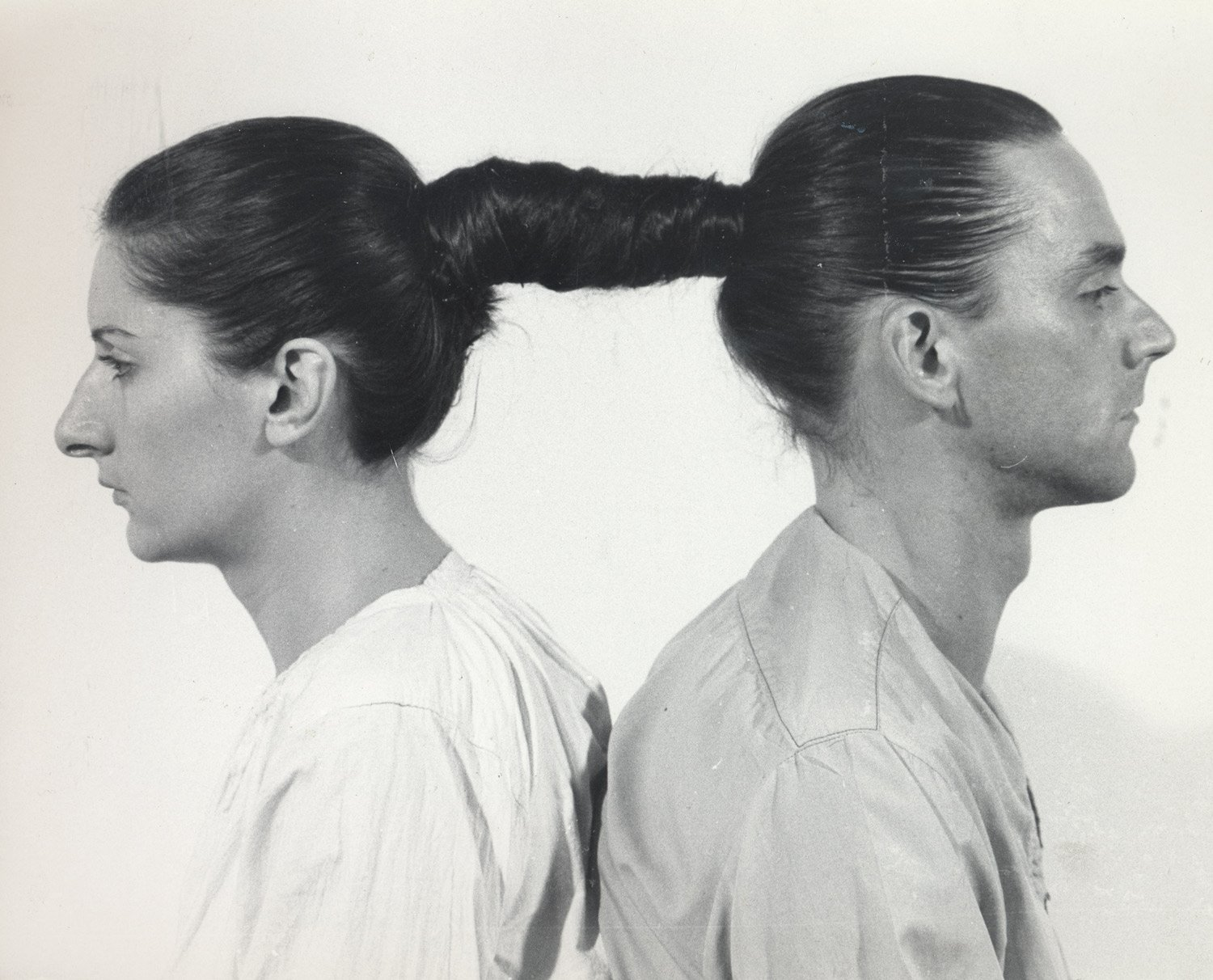 Relation in Space, 1976; Relation in Time, 1977, hair tied together for hours