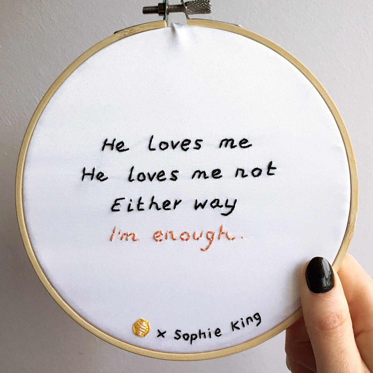 love statements hoop art
