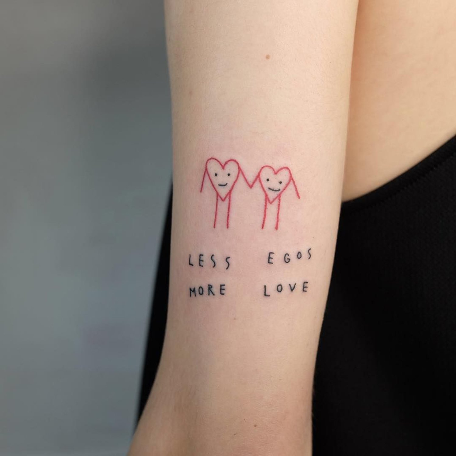 love tattoo, sketch