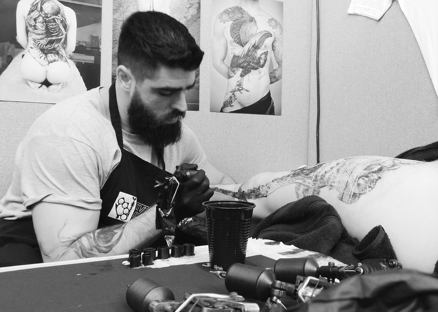 Federico Rabelo at tattoo convention