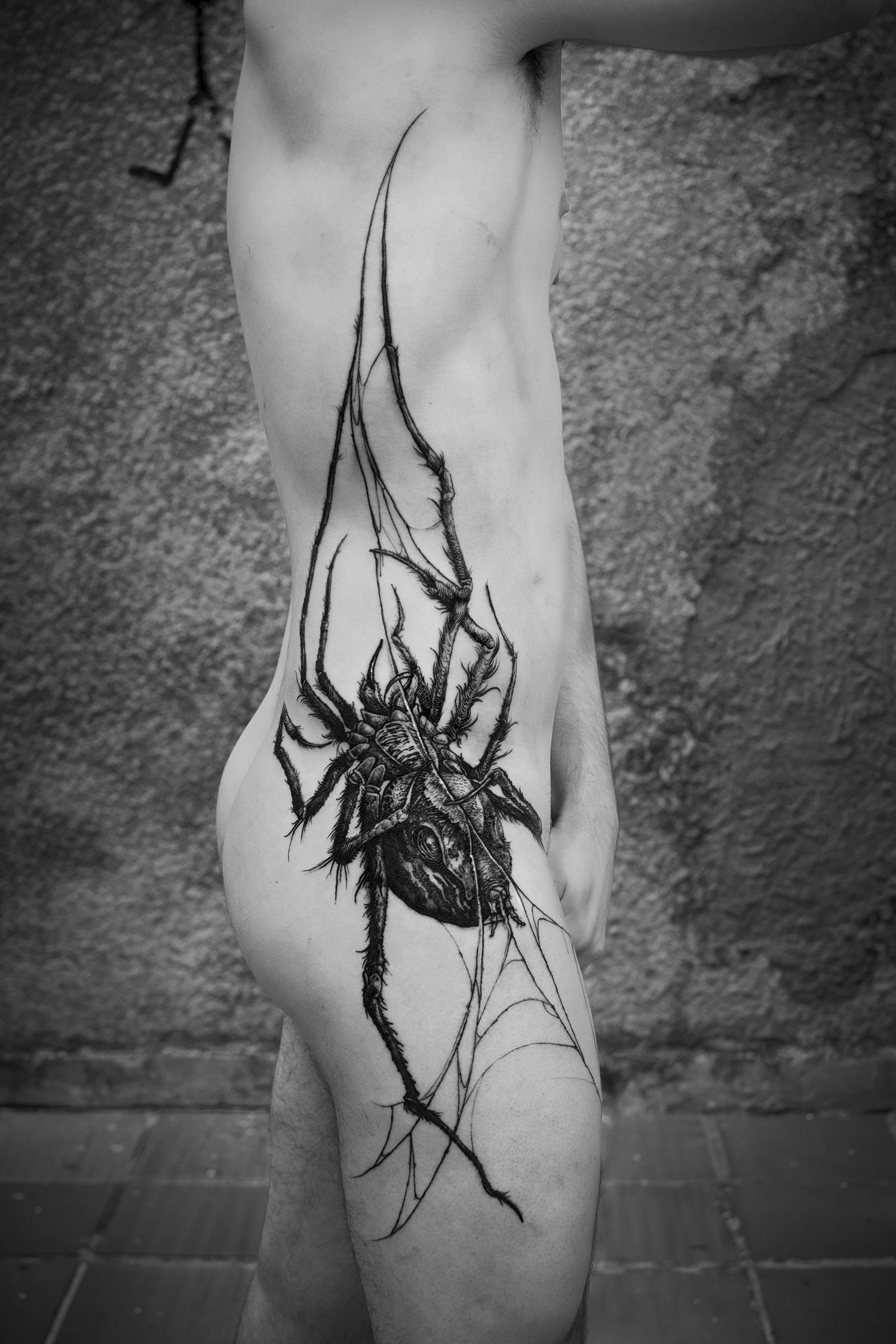hình xăm con nhện trên cơ thể, bởi federico rabelo, yearegods