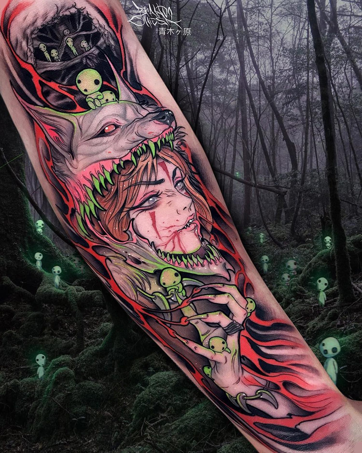 princess mononoke tattoo by brando chiesa