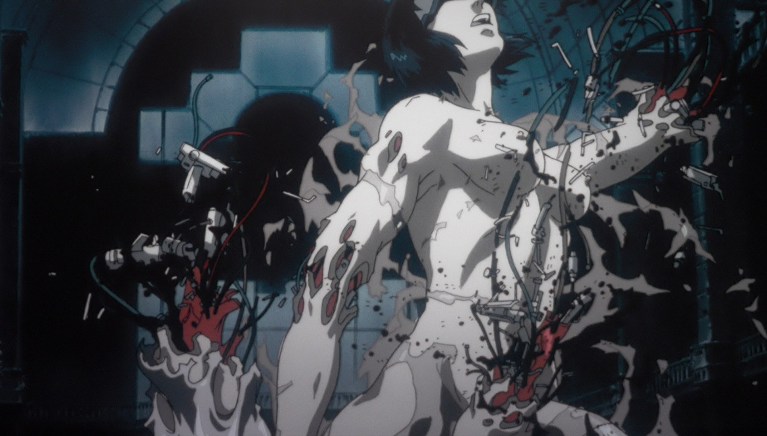 animated scene from Ghost in the Shell