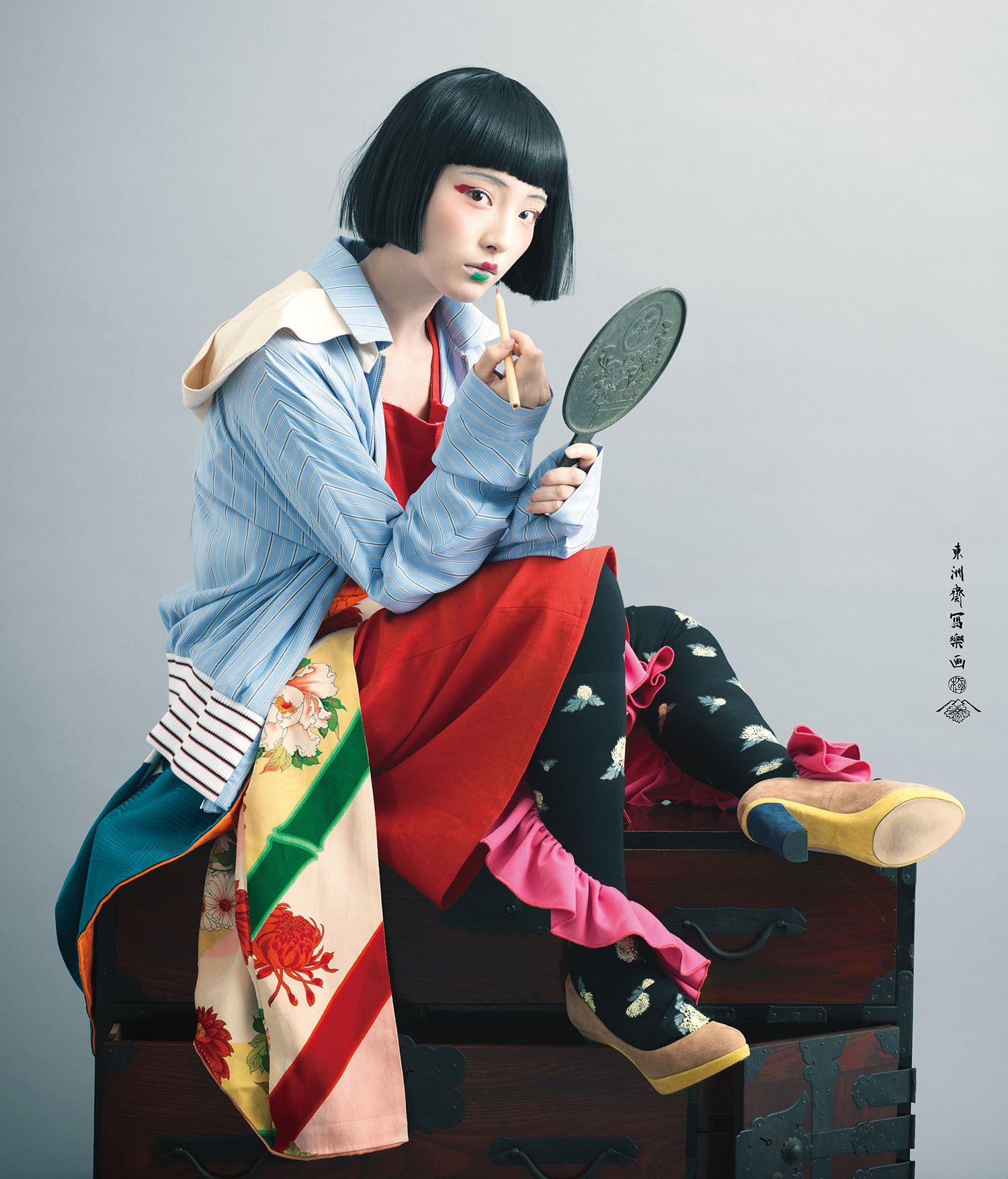 Sharaku Poster by YASUHITO TAKEUCHI, geisha style
