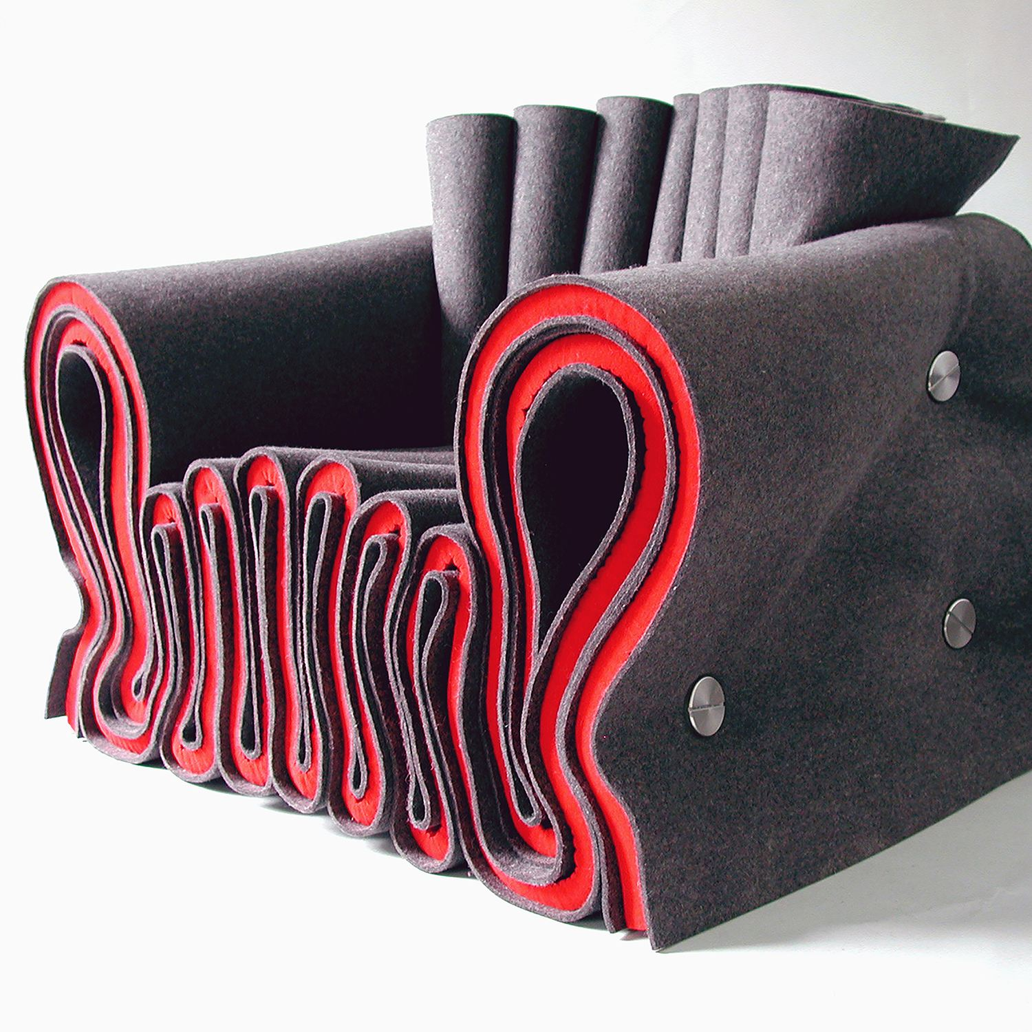 Joseph Felt Chair Seating by Lothar Windels