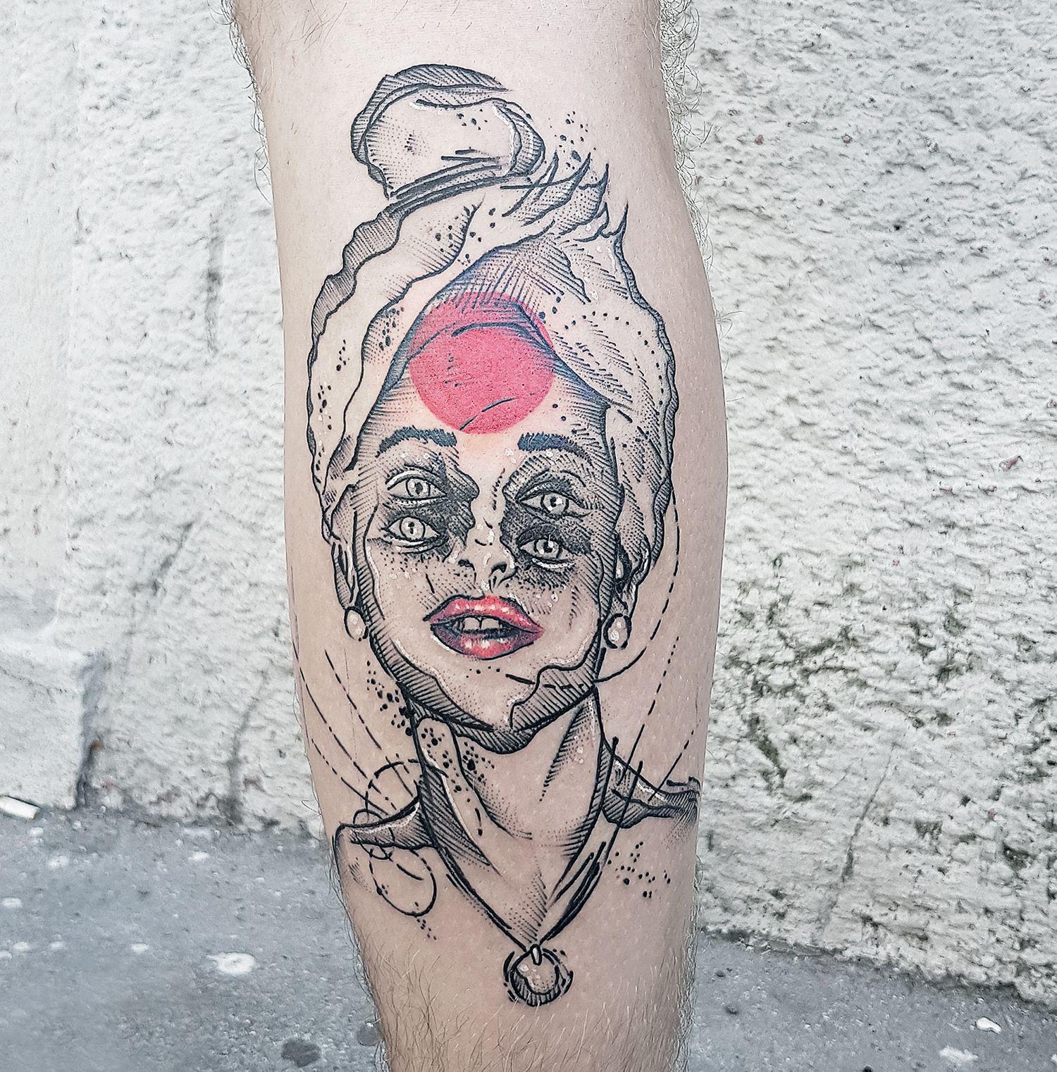 afro shiva, tattoo