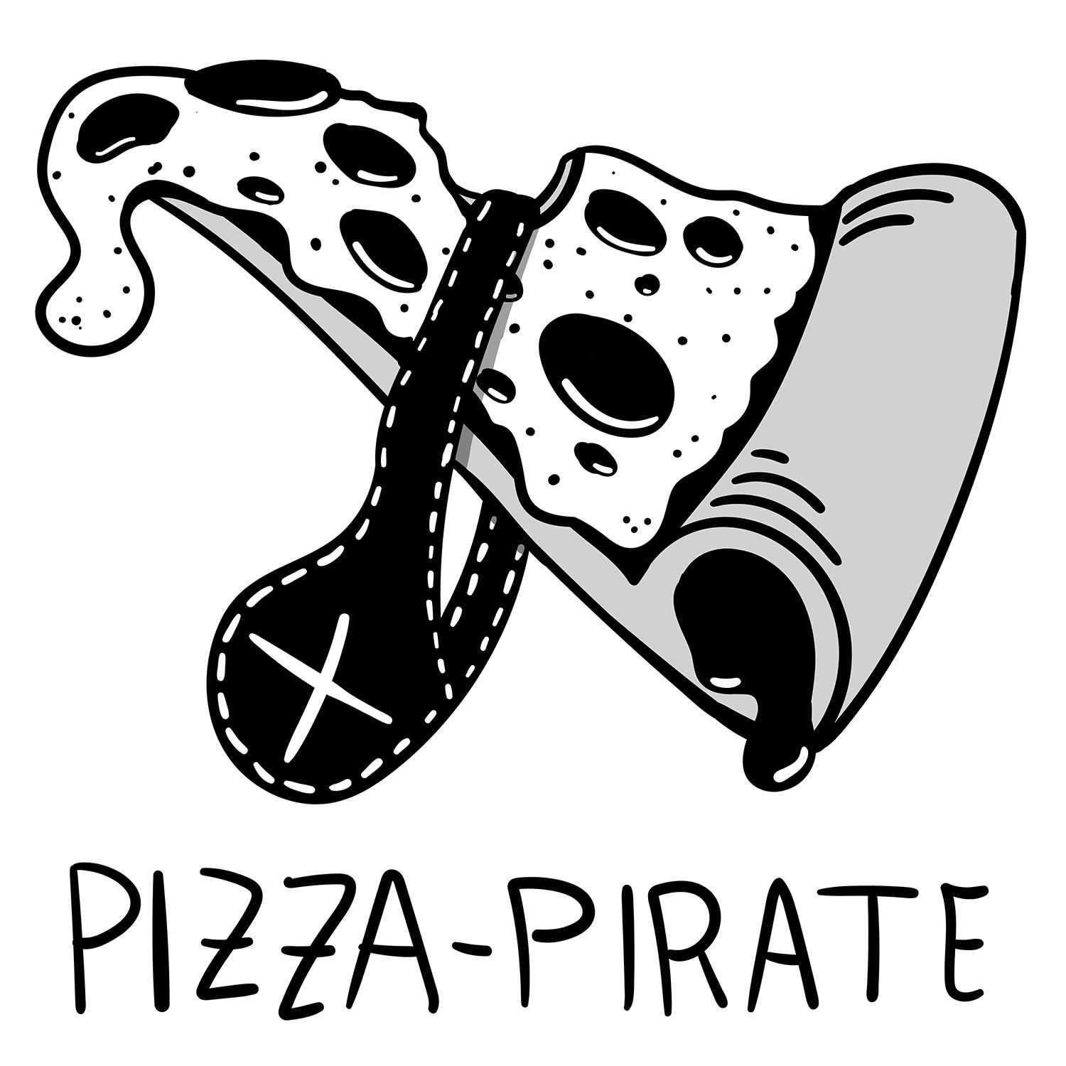 pirate pizza illustration