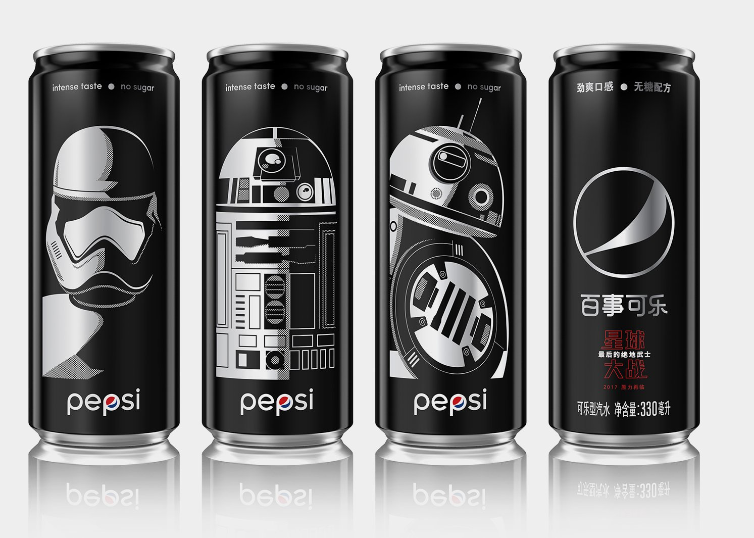 Pepsi Black x Star Wars LTO China Brand Packaging by PepsiCo Design and Innovation, adesignawards