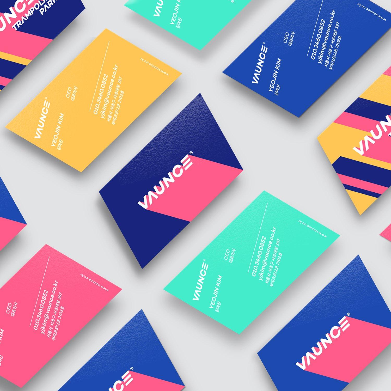 VAUNCE Trampoline Park Brand Identity Design by PlusX and Vaunce, adesignawards