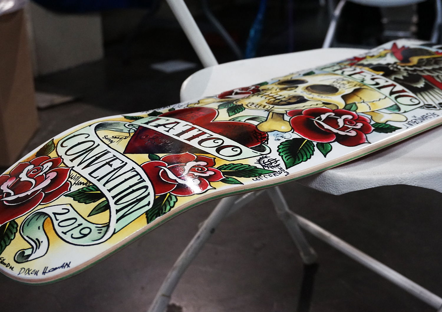 fresno tattoo convention skateboard