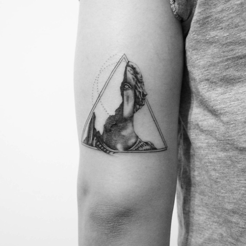 classical sculpture tattoo