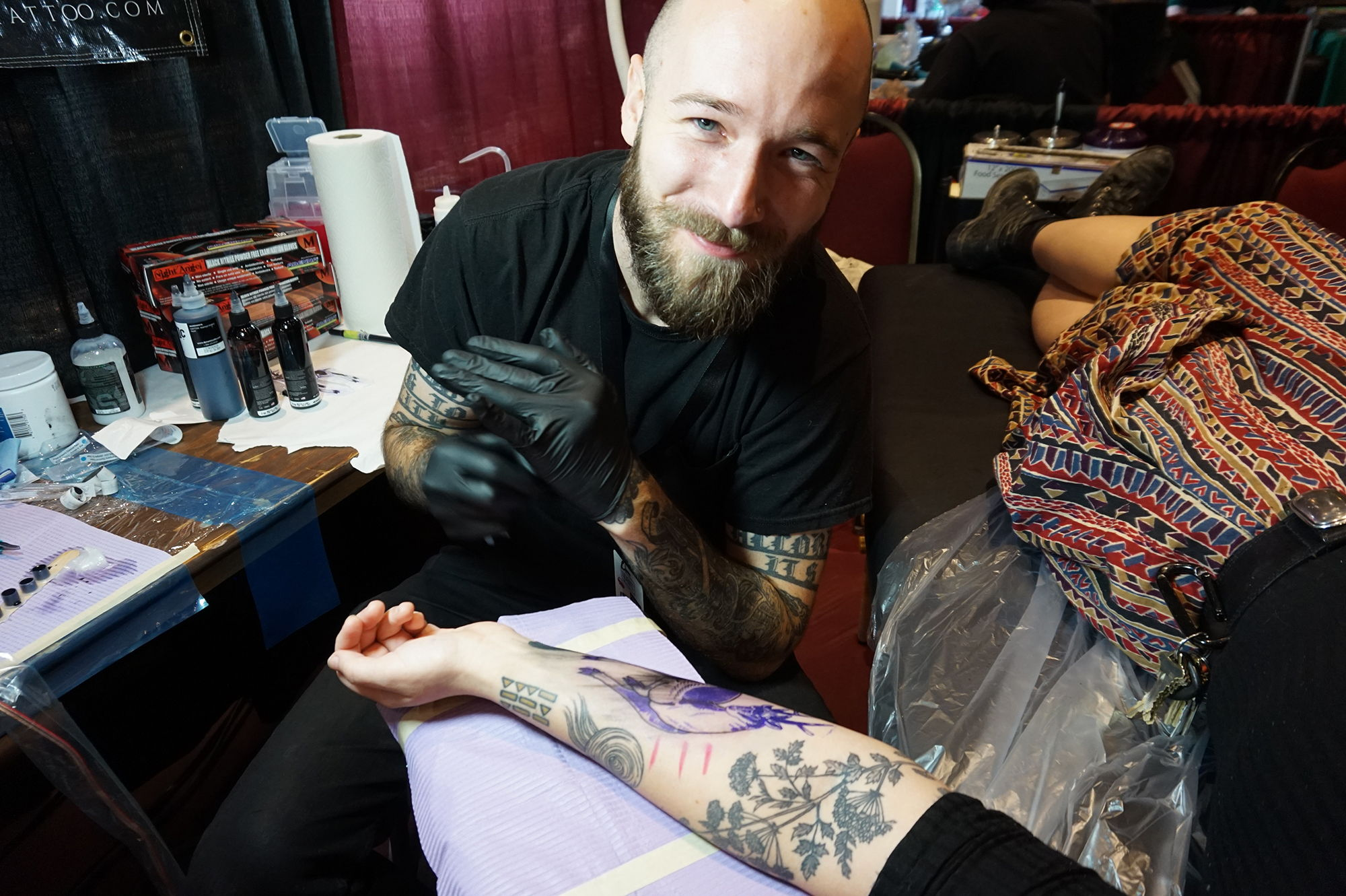 Above: Oakland-based tattooer Matt Leibowitz from Old Crow studio.