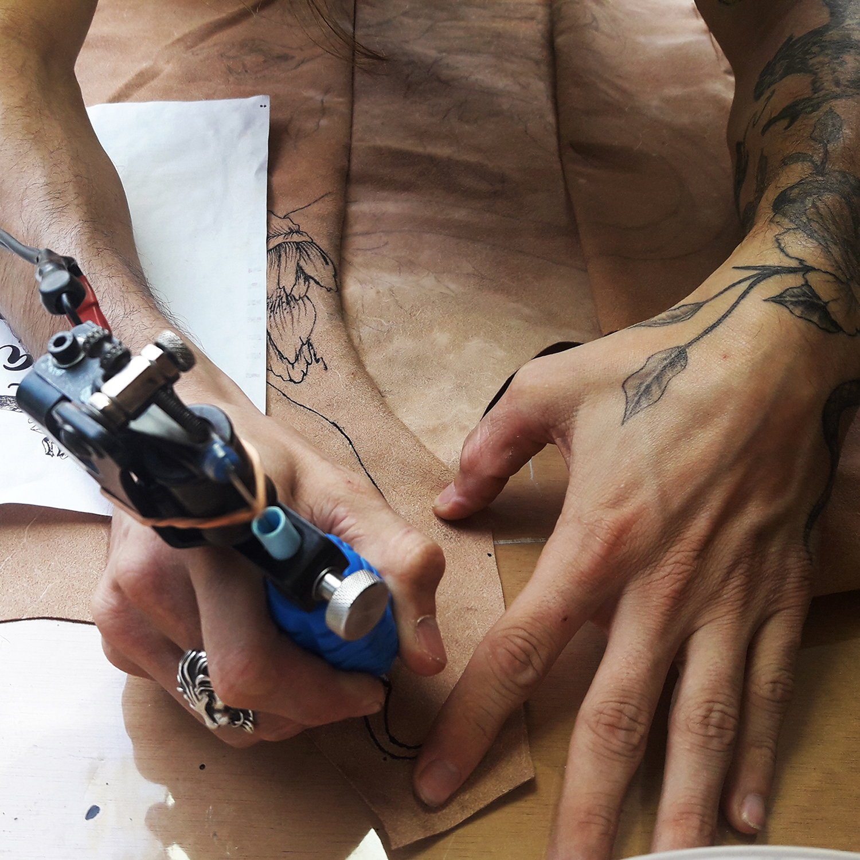 tattooed clothing, fashion, Inked Vest by Stella Nanni