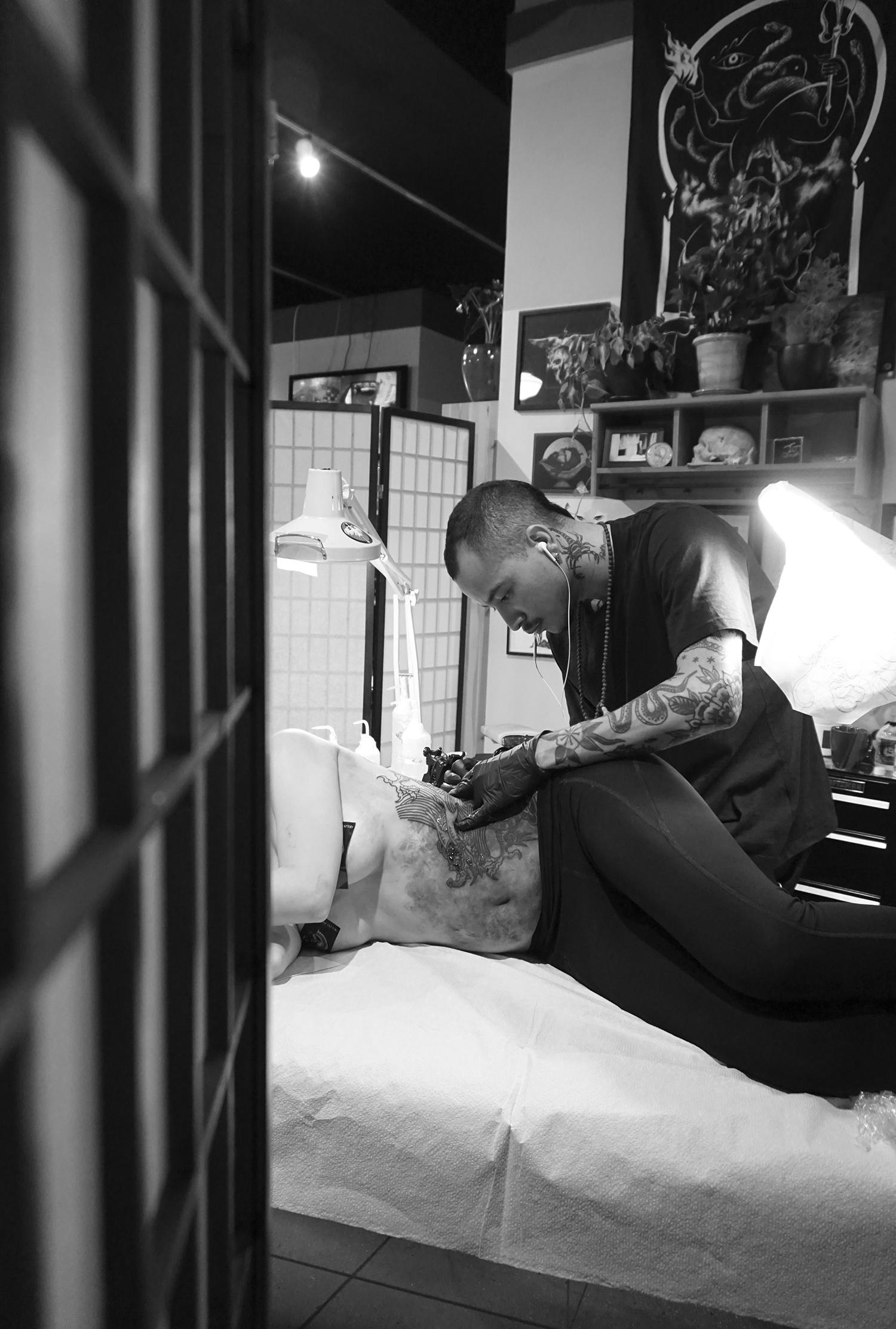 tattooing in oakland studio, scene360 coverage