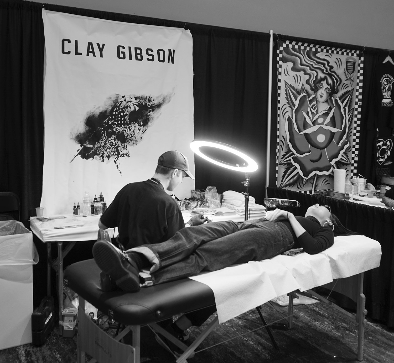 clay gibson tattooist at the burlingame event