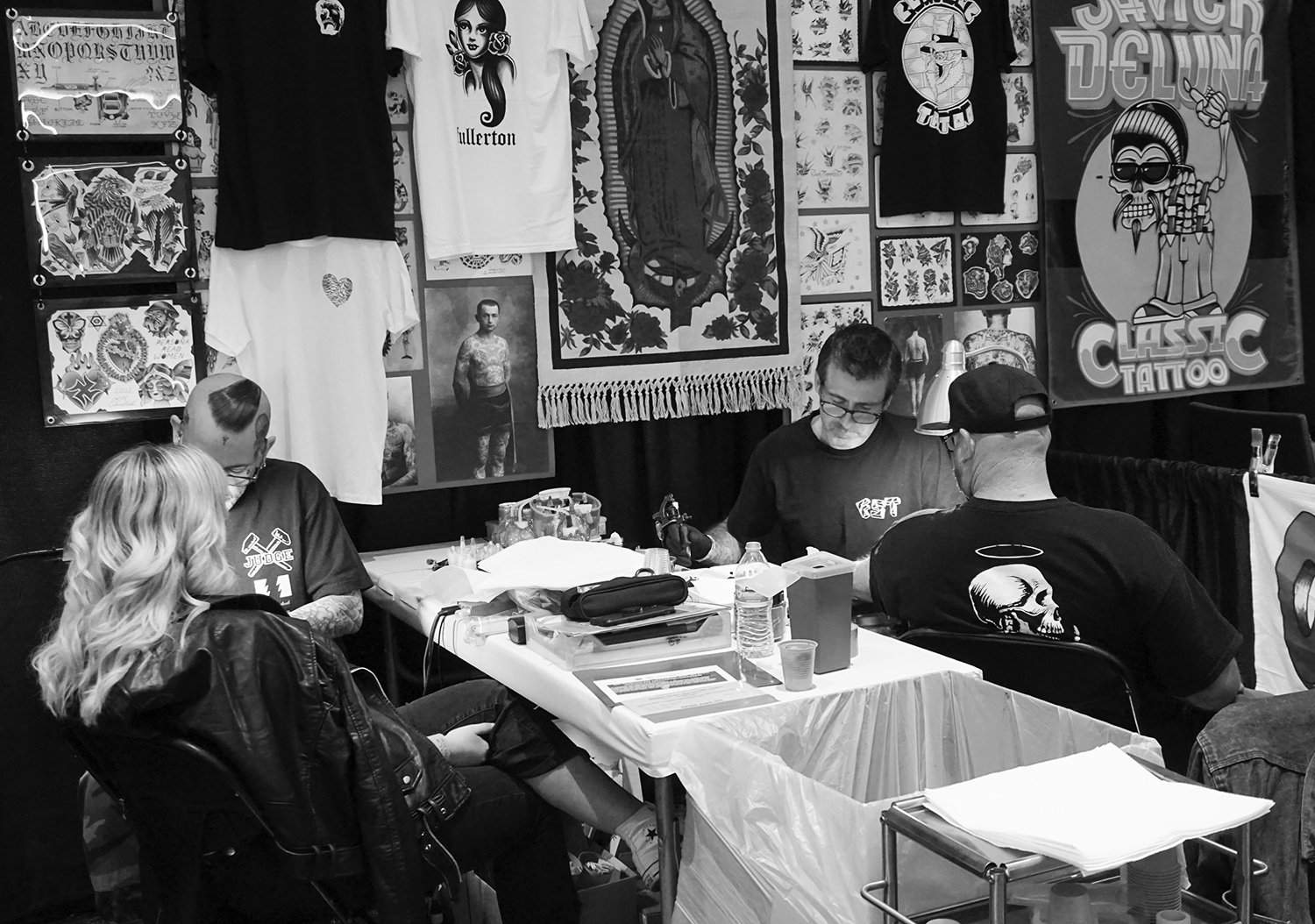 LINDSEY H. CARMICHAEL CTF and tim hendricks (miami ink) tattooing at expo