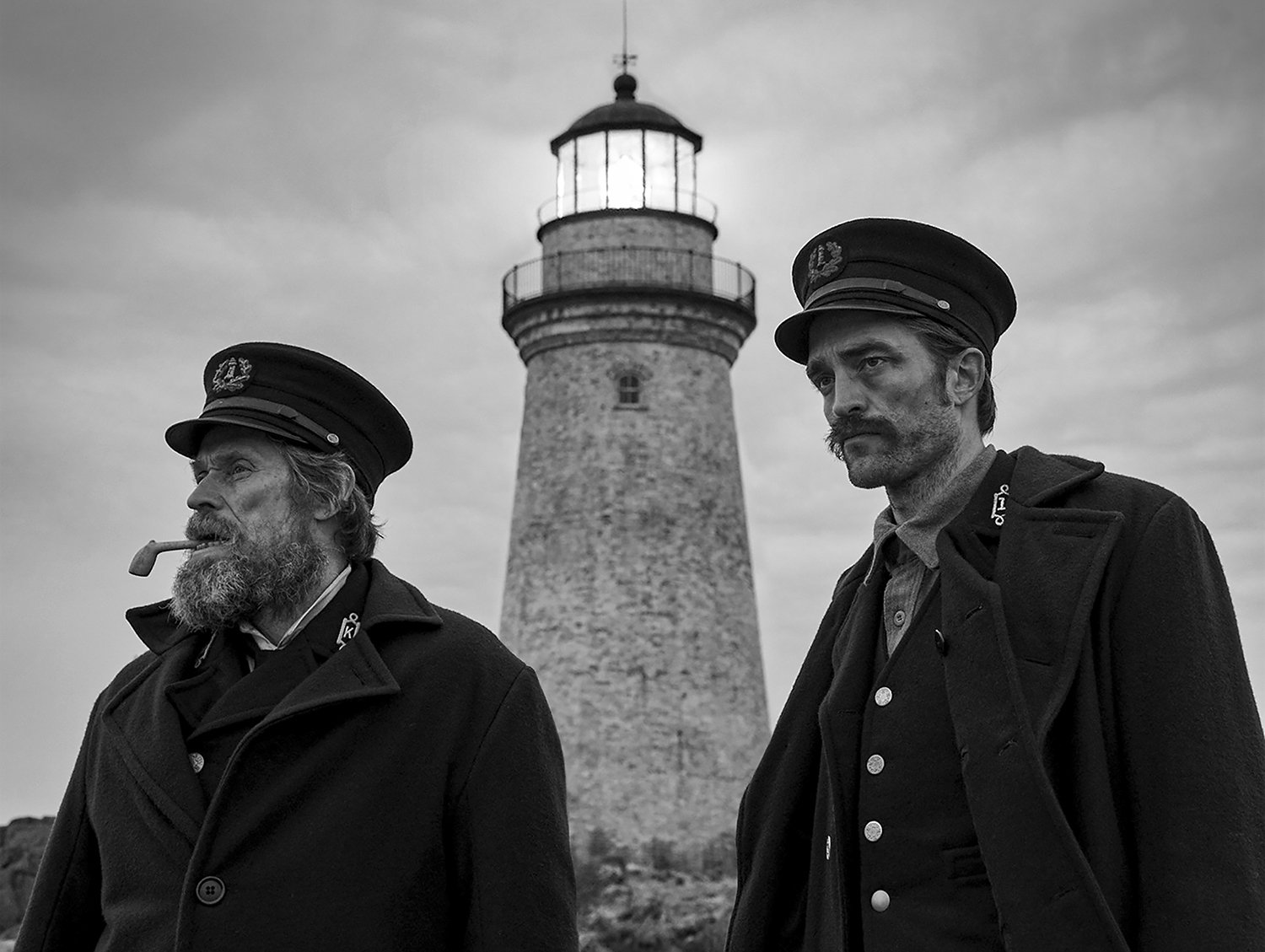 willianm defoe and robert pattison, The Lighthouse movie