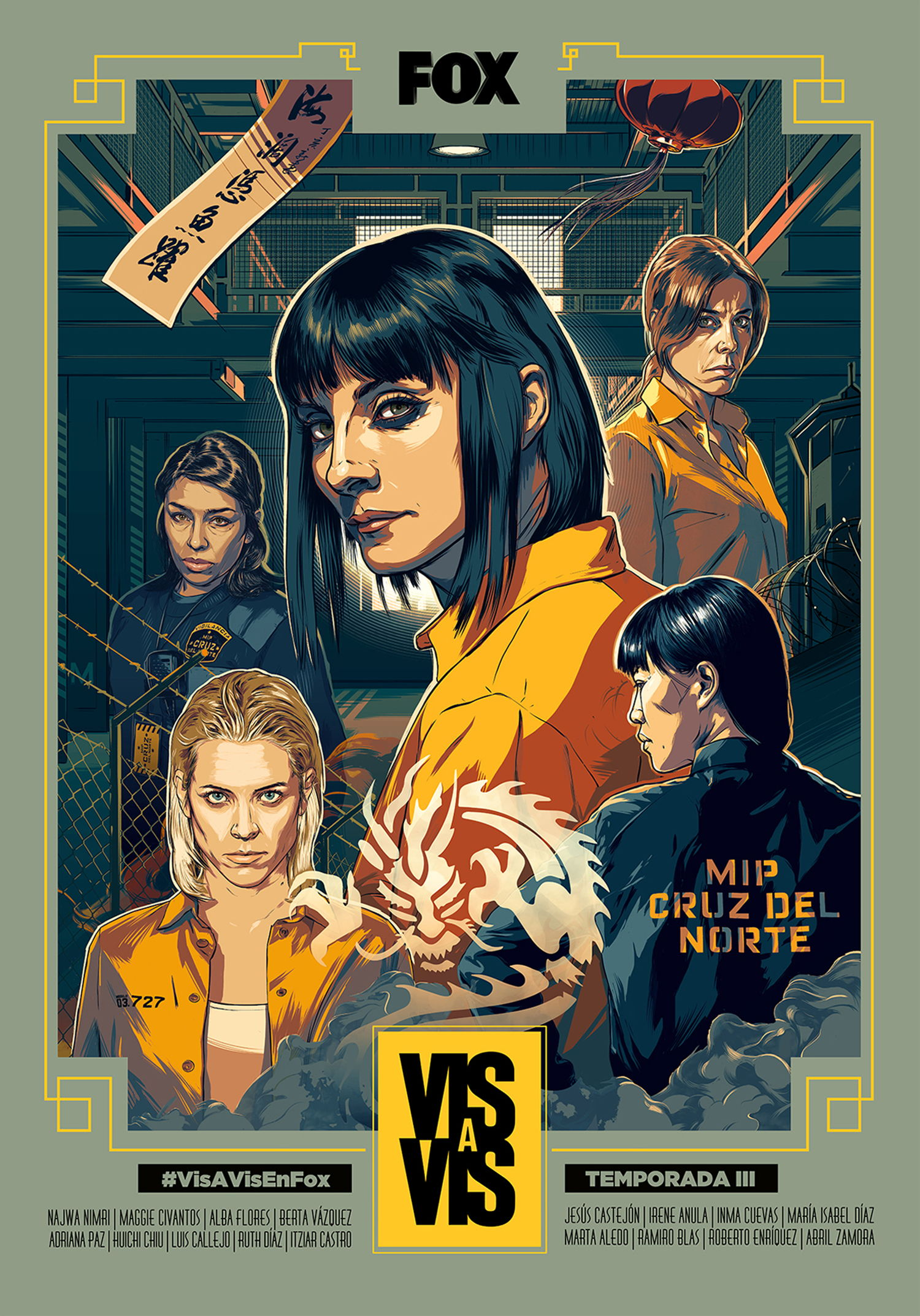 tv series poster, kill bill style, Vis a Vis Season 3 Posters Campaign by Fox Networks Group Spain
