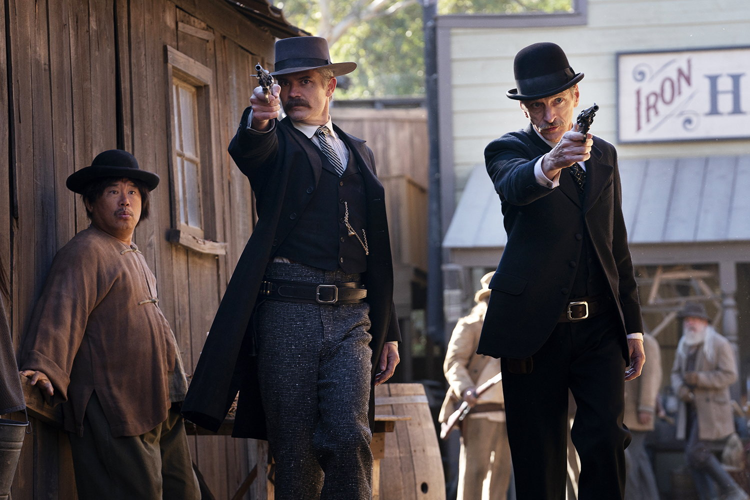 western, cowboys in Deadwood movie