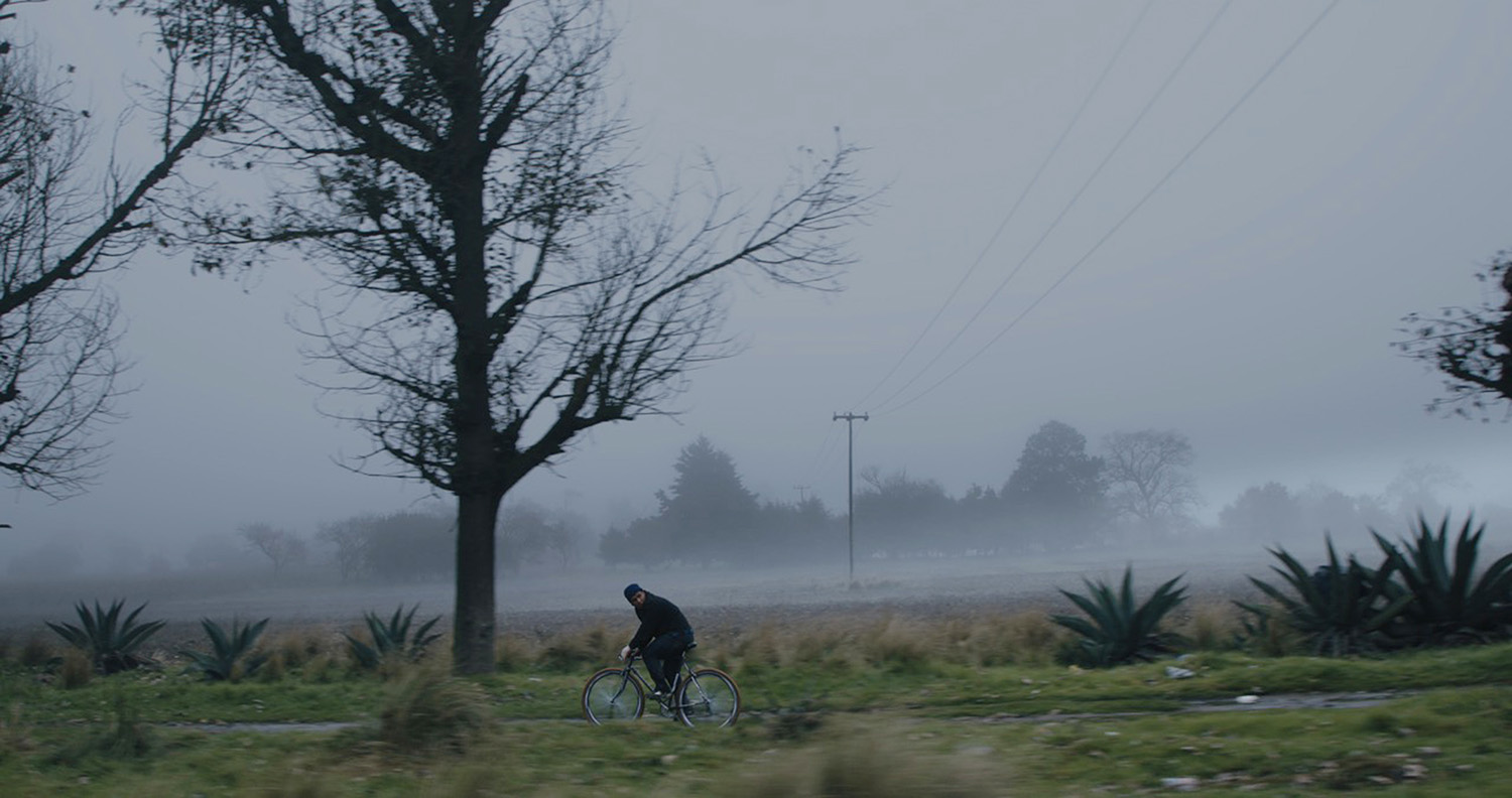 foggy day, landscape scene in tempestad movie