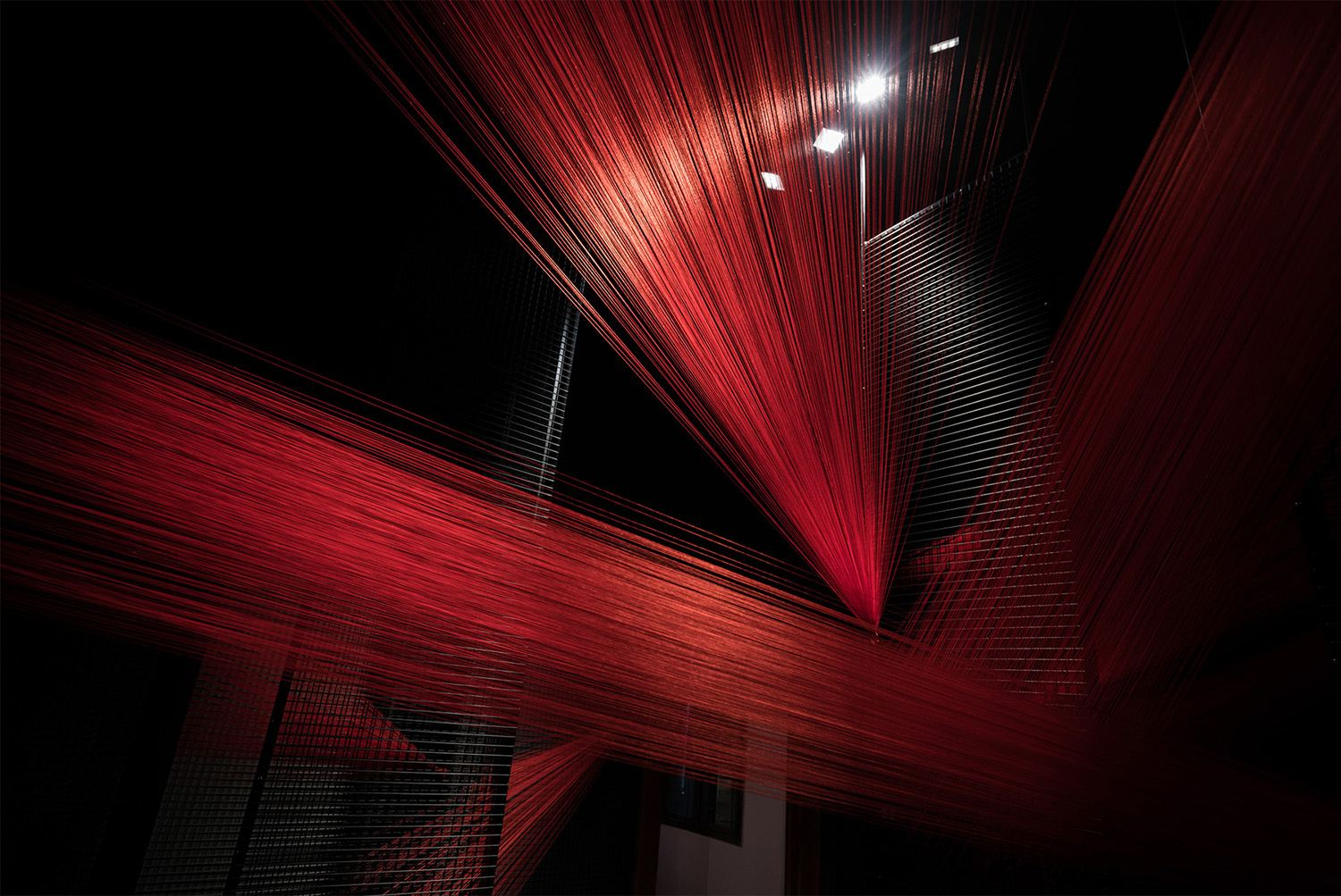 The Fire of Holy Spirit Art Exhibition by Yi Chen and Muchen Zhang, red strings