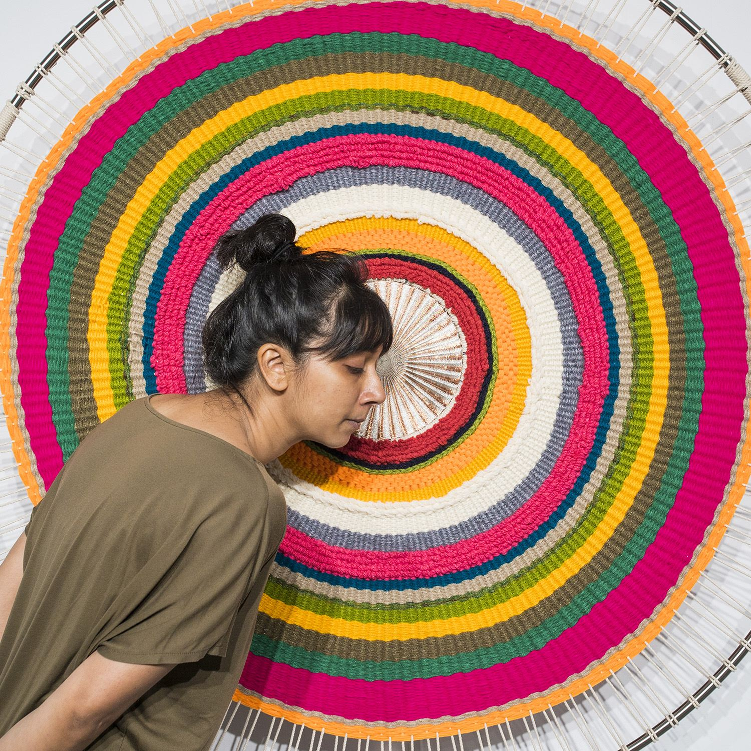 Sound Circles Taiwan Sonic Textile Installation by Hyojin Yoo and Nupur Mathur