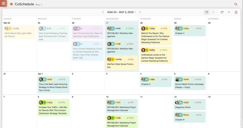 coschedule editorial calendar demo