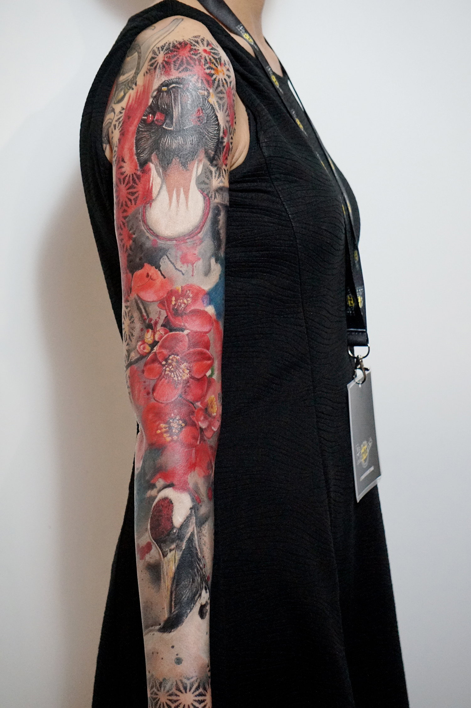 Andy Kemp's completed work at the Lisbon Tattoo Rock Fest 2019