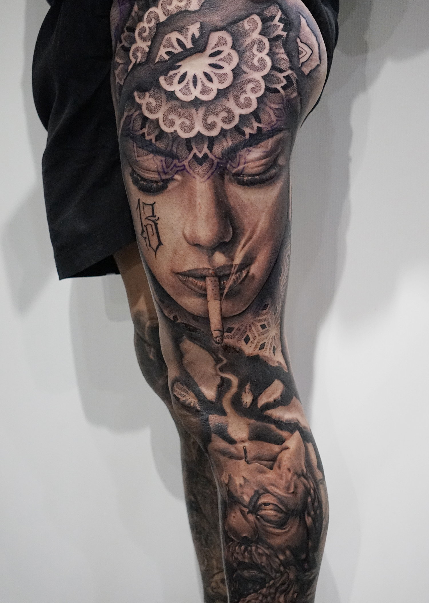 Another collaboration, this time by tattooists Joao Dias and Theo Pedrada.