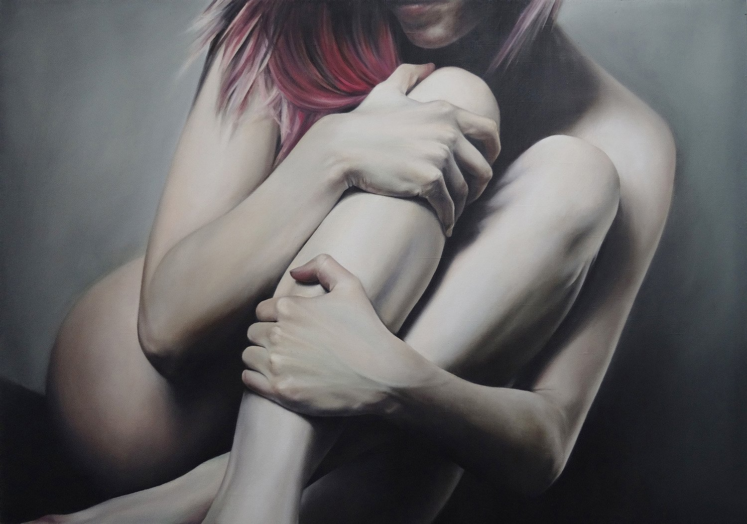 eating disorder, anorexia, Oil/canvas, 100x70, 2014, painting by yanina viland