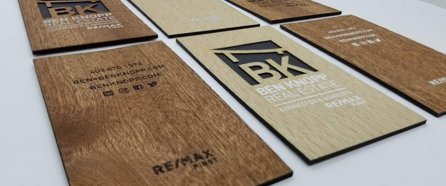wood business cards, creative and unique