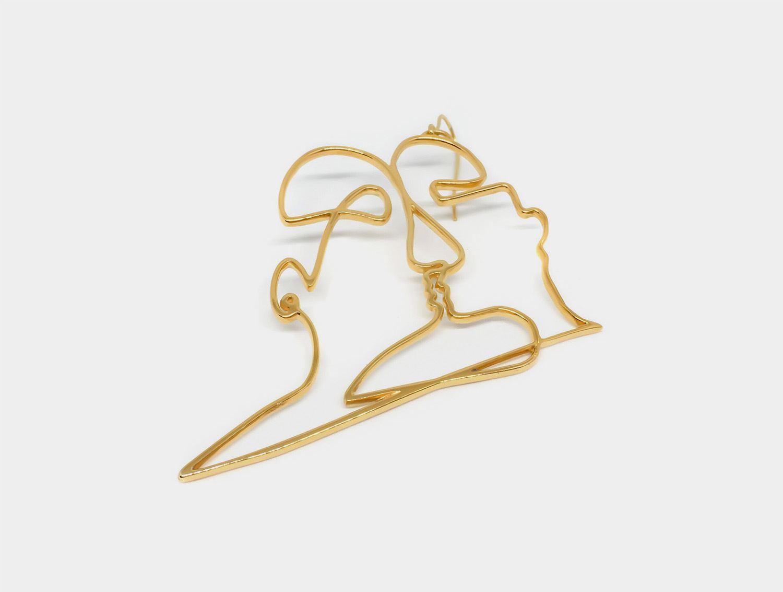 Bijoux Artistiques Phaino par Zoi Roupakia, chaîne visages