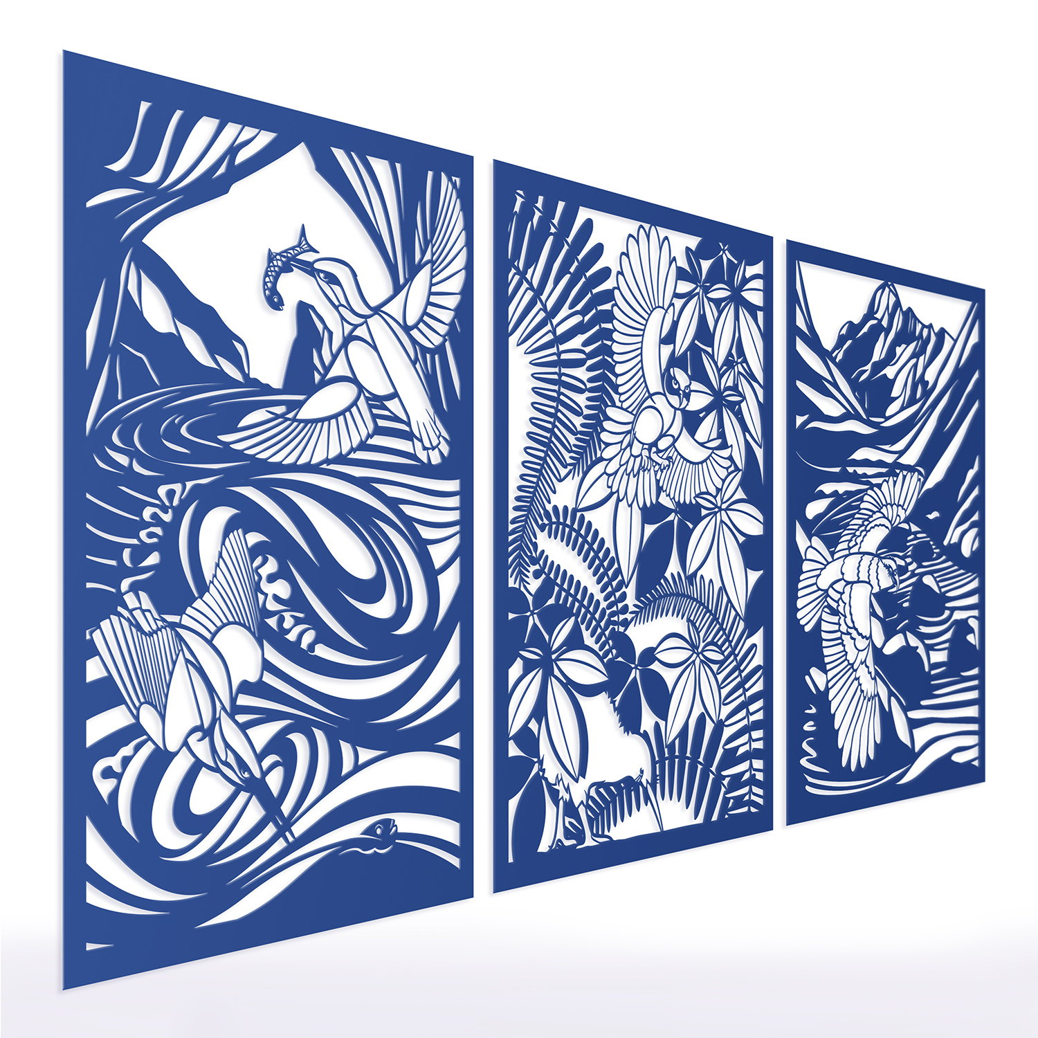 Birds of Steel Multifunctional Panel by Malcolm White